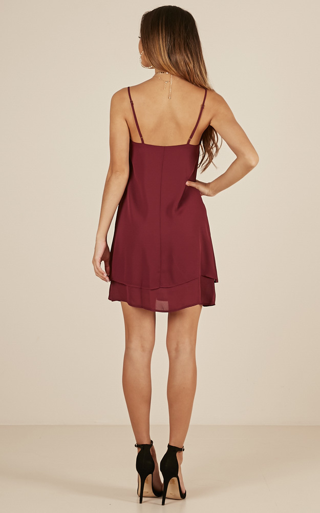 Go With It dress in wine - 8 (S), Wine, hi-res image number null