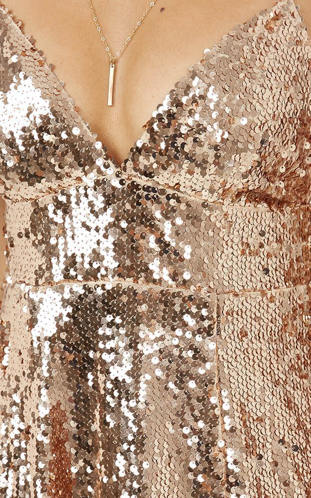 Pass On By Dress in Rose Gold Sequin - 20 (XXXXL), Rose Gold, hi-res image number null