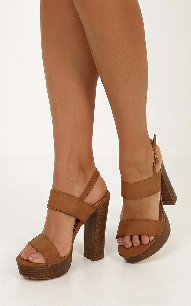 Billini - Estella heels in tan - 10, Tan, hi-res image number null