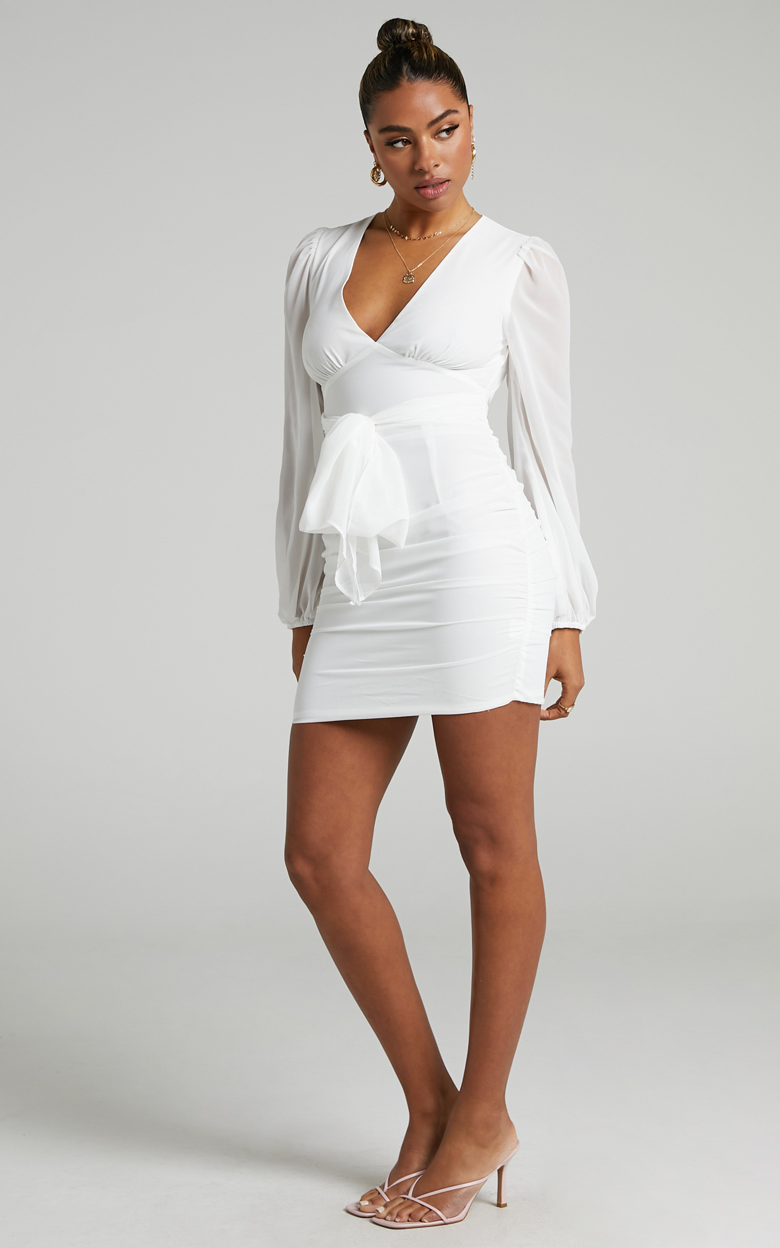 Party Just For Fun Dress in White - 06, WHT3, hi-res image number null