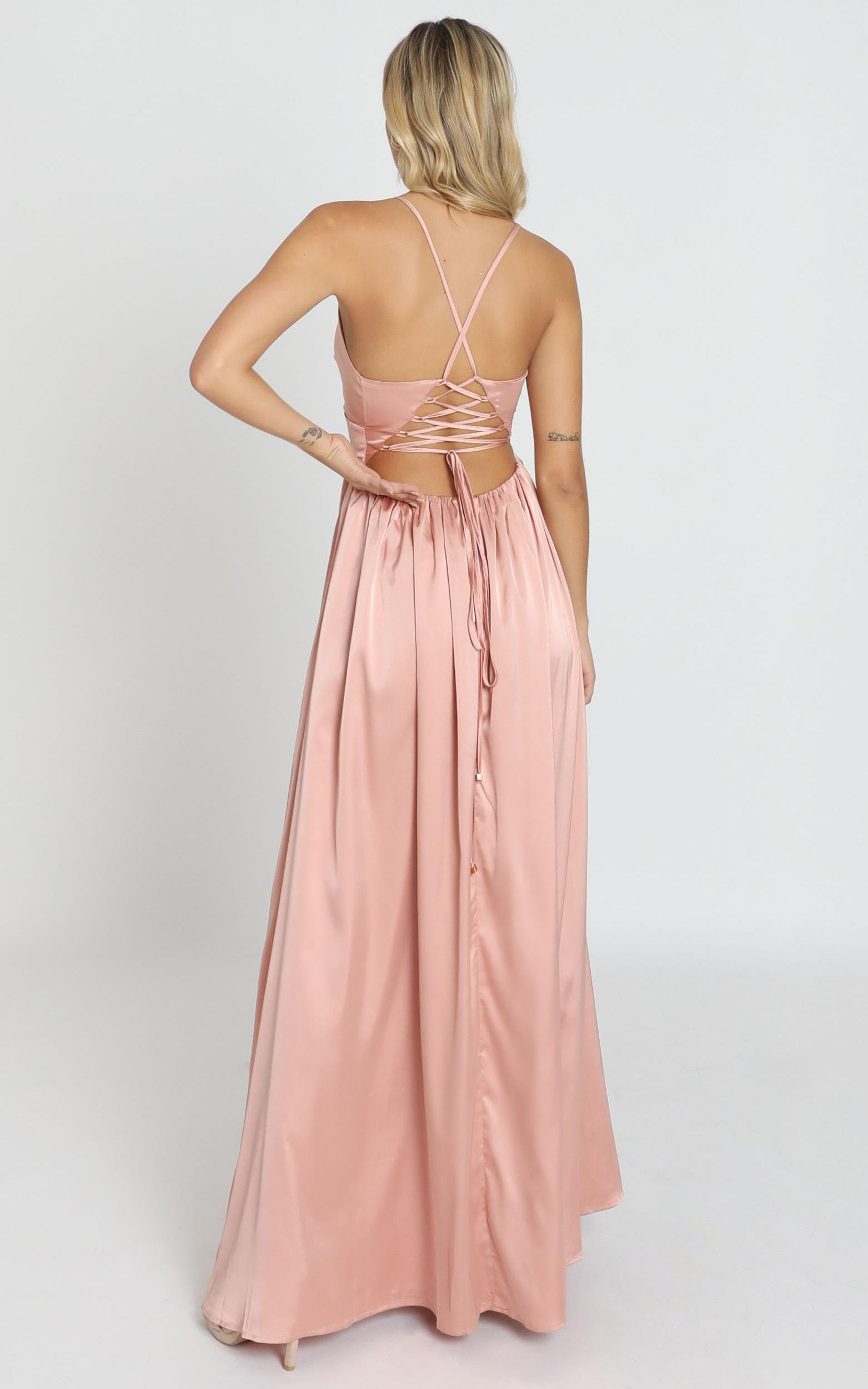 I Want the world to know Dress In rose satin - 14 (XL), Pink, hi-res image number null