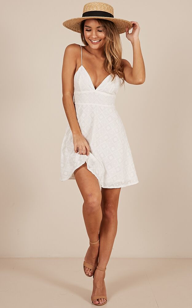 Sunshine Of Your Love dress in white-18 (XXXL), White, hi-res image number null