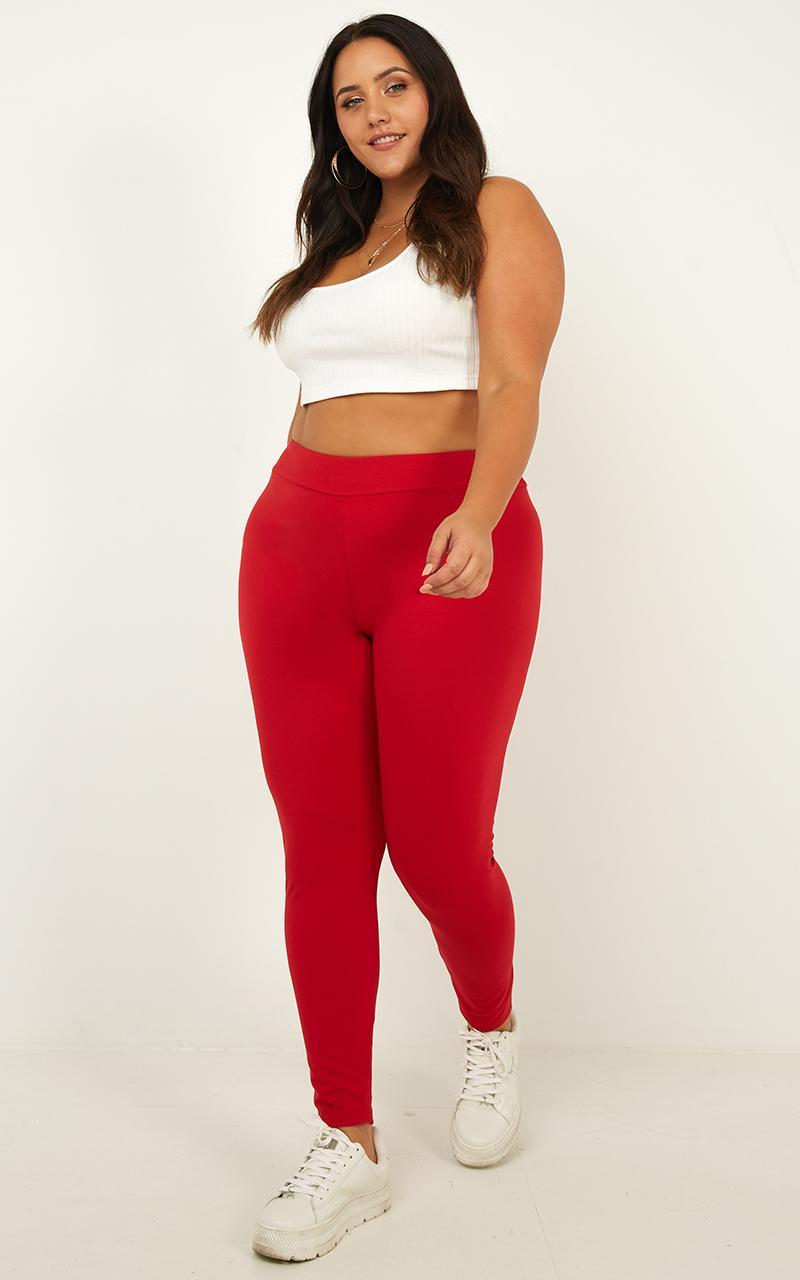 Lounge Around Tights in red - 20 (XXXXL), Red, hi-res image number null