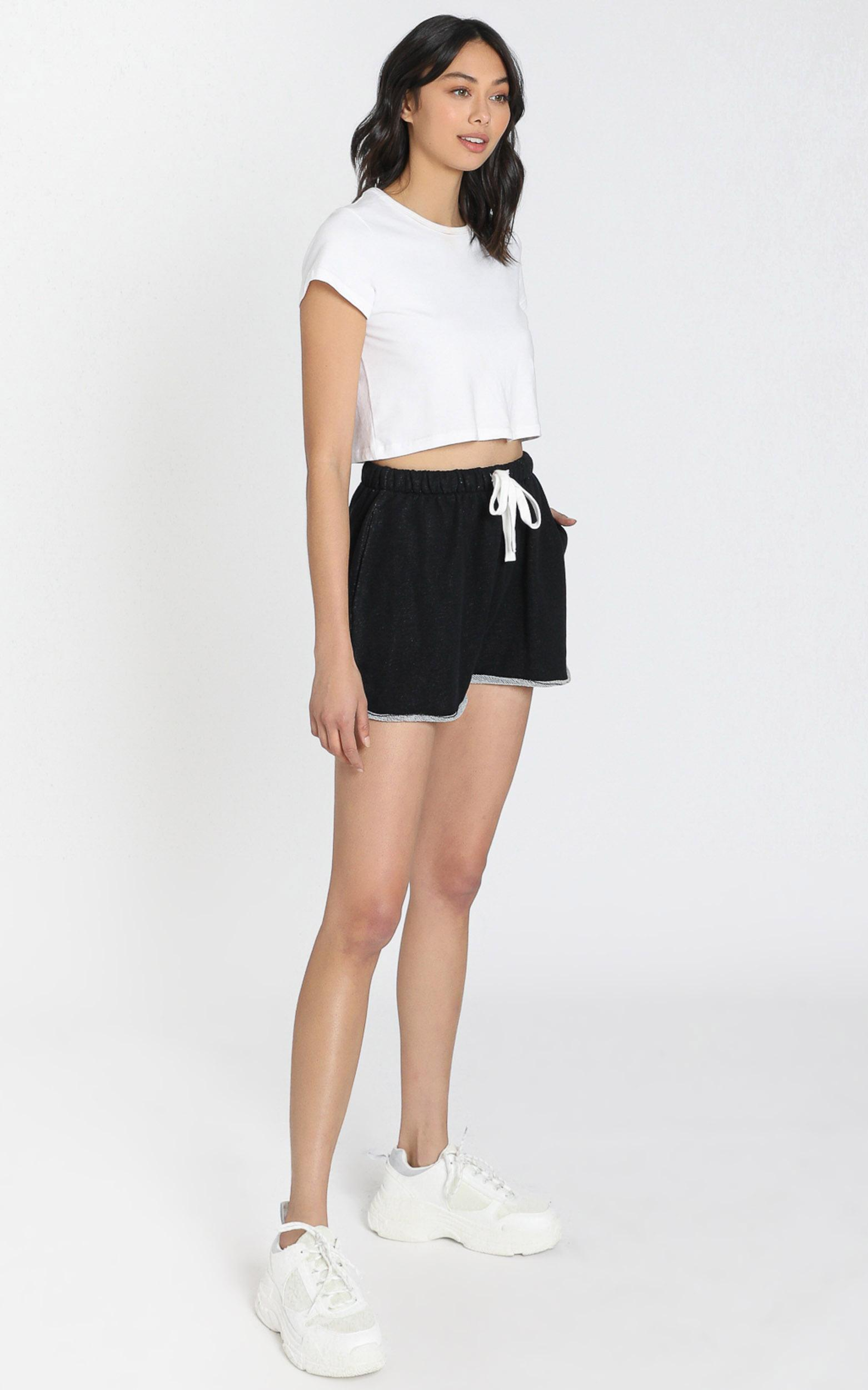 AS Colour - Perry Track Shorts in Black Marl - XS, Black, hi-res image number null
