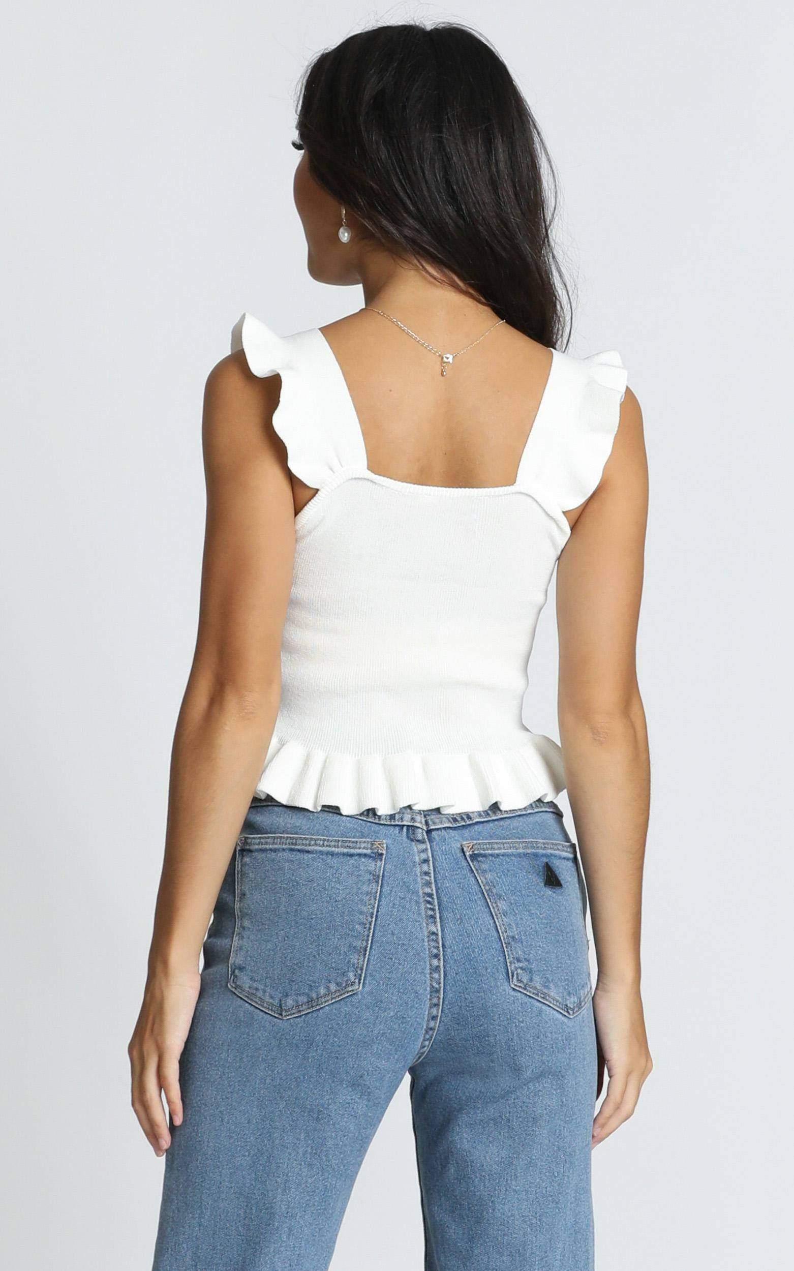 Im All In knit top in white - 16 (XXL), White, hi-res image number null