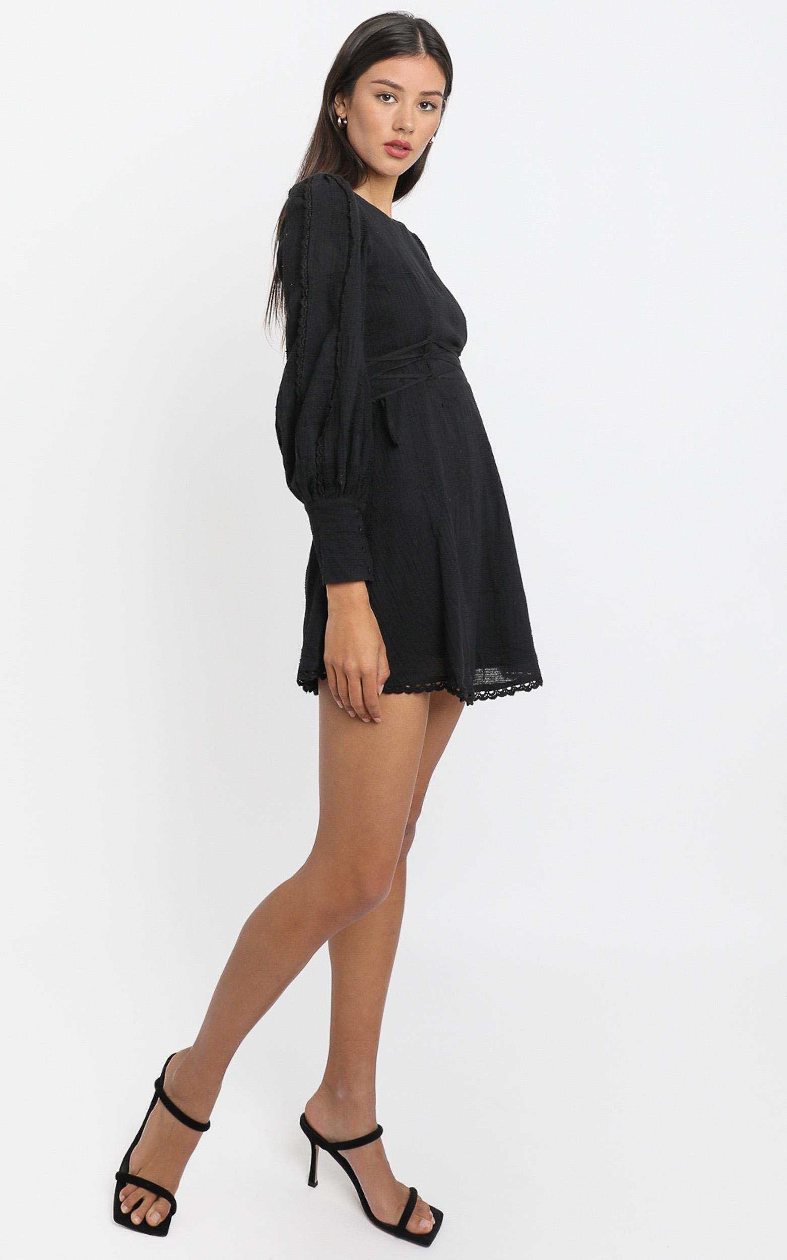 Reverie Dress in Black - 6 (XS), Black, hi-res image number null