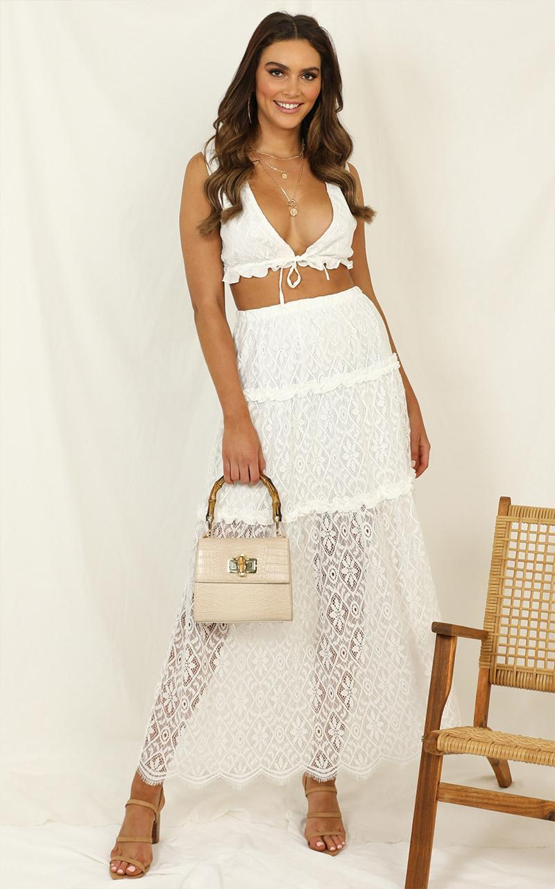 Showing Me Off Two Piece Set In  white lace - 20 (XXXXL), White, hi-res image number null