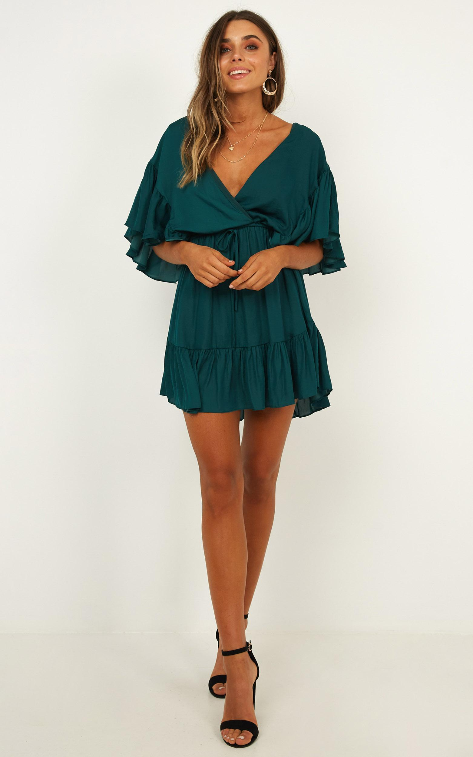 No Wasting Time Dress in emerald - 12 (L), Green, hi-res image number null