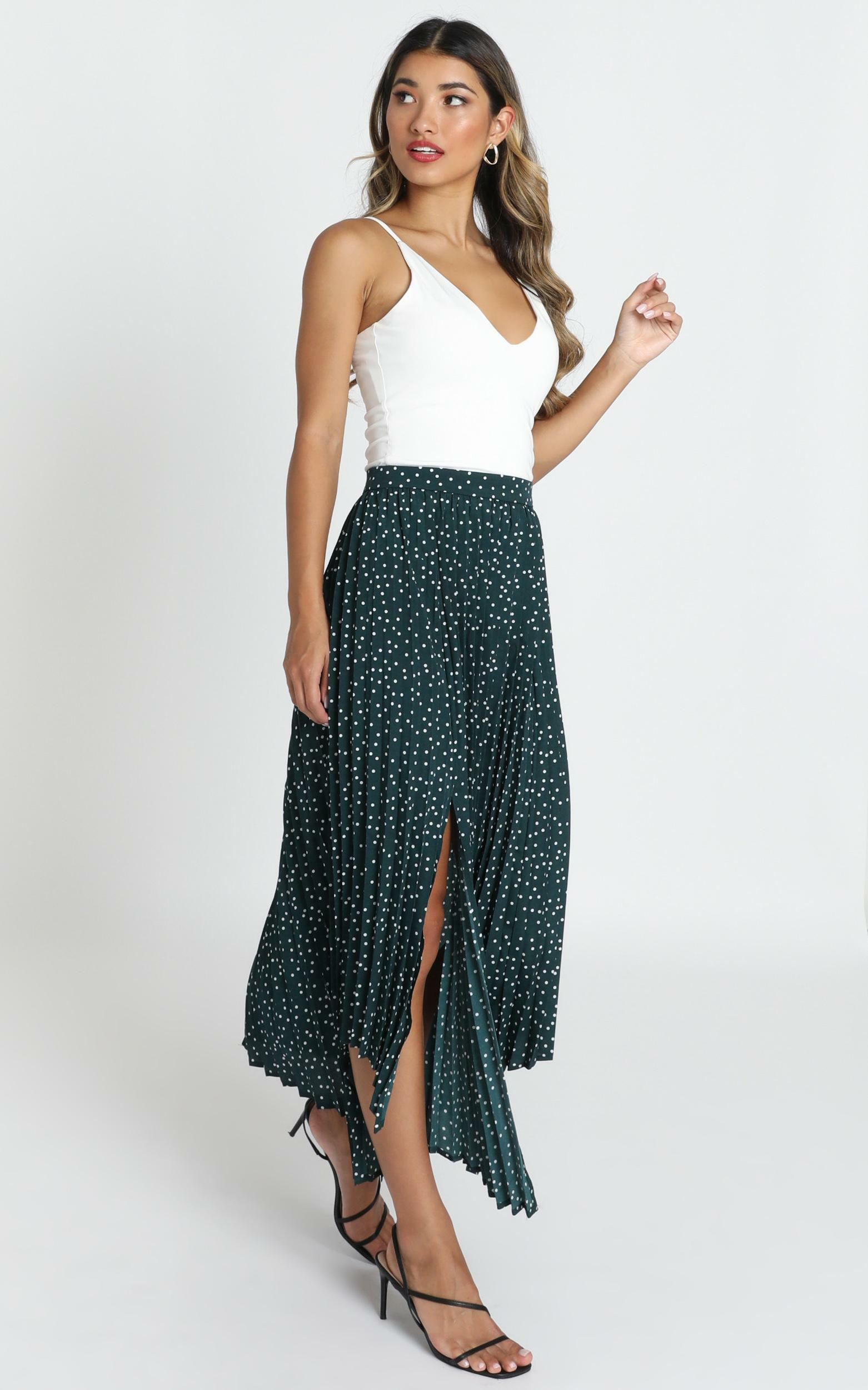 Feel The Rain skirt in emerald spot - 12 (L), Green, hi-res image number null
