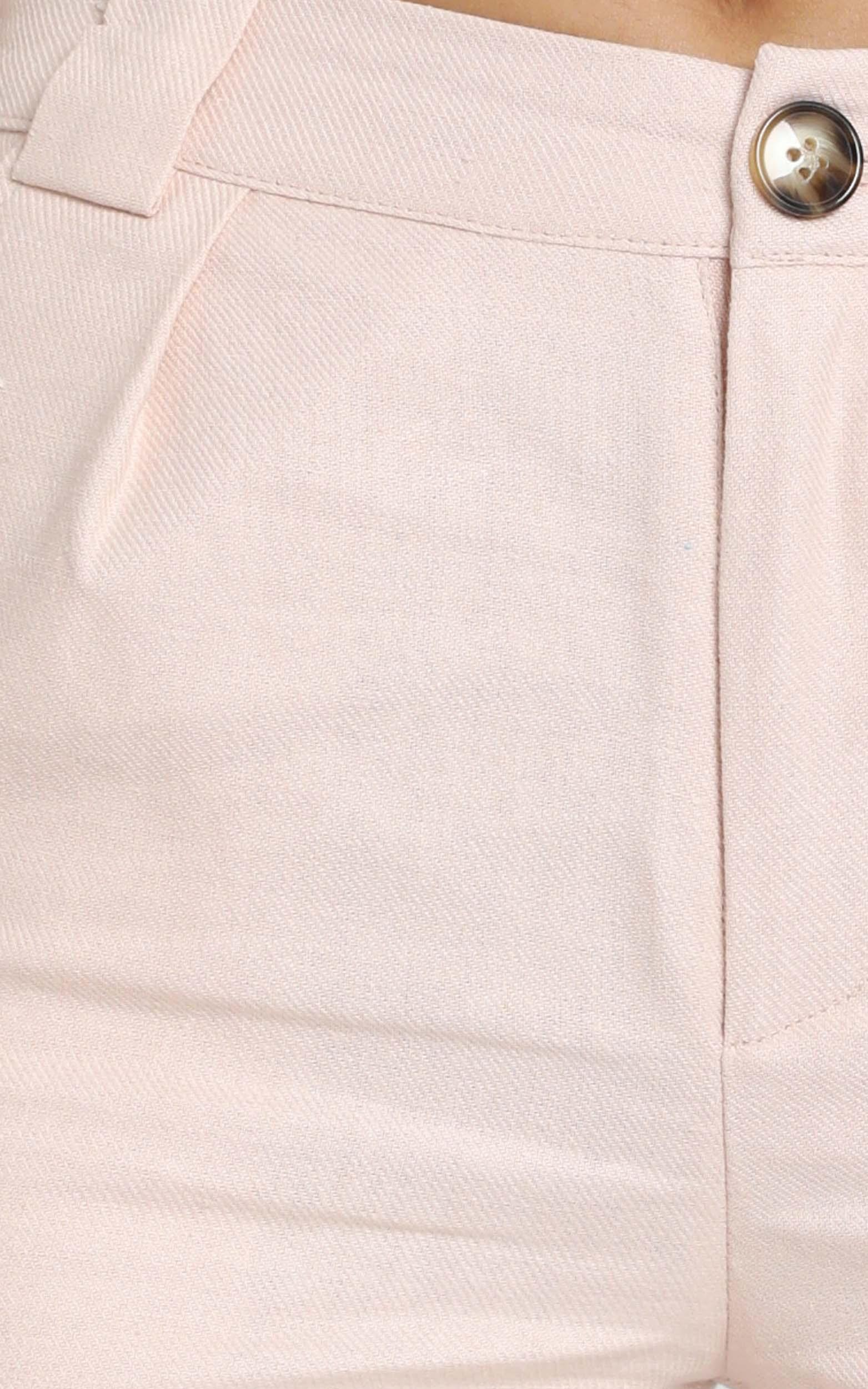 Nemi Linen Shorts in pale pink - 14 (XL), Pink, hi-res image number null