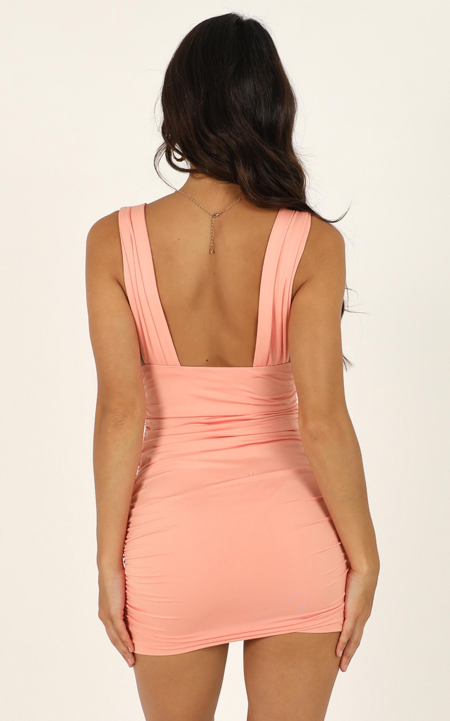 This Is Real dress in peach - 12 (L), Pink, hi-res image number null