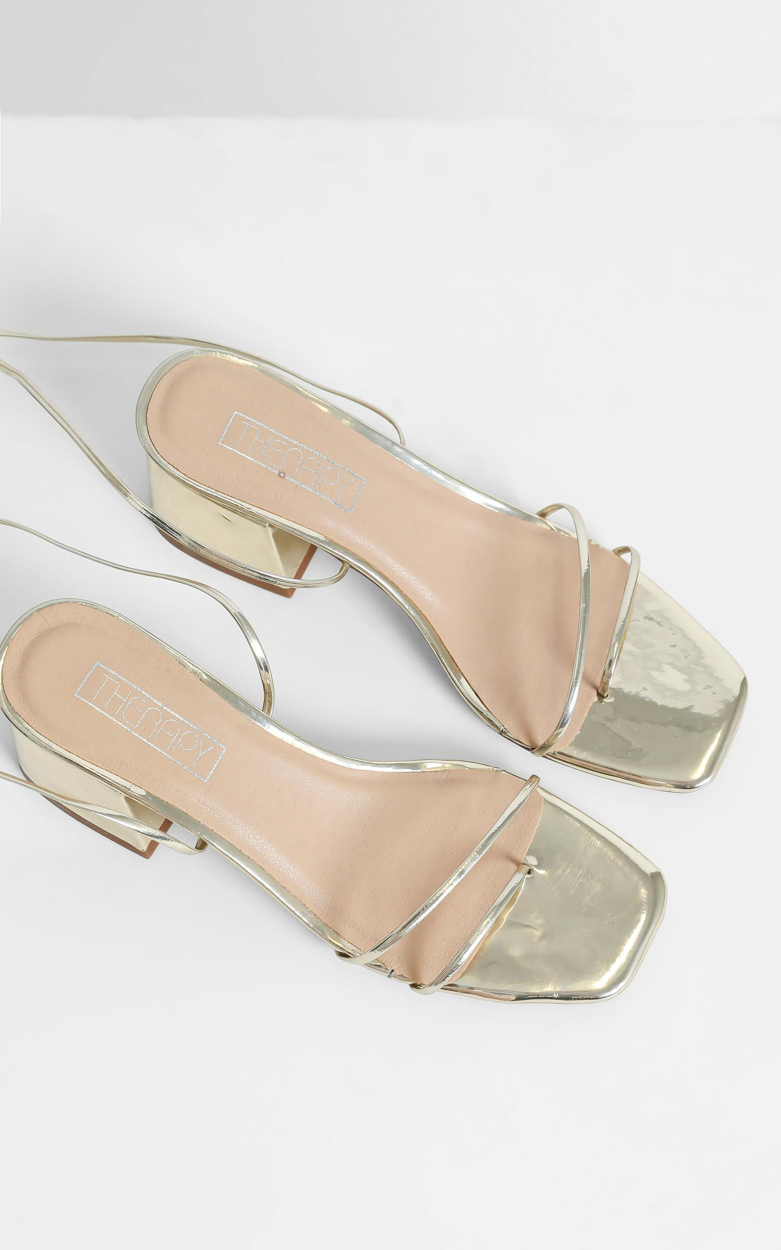 Therapy - Juniper Heels in Gold - 5, Gold, hi-res image number null