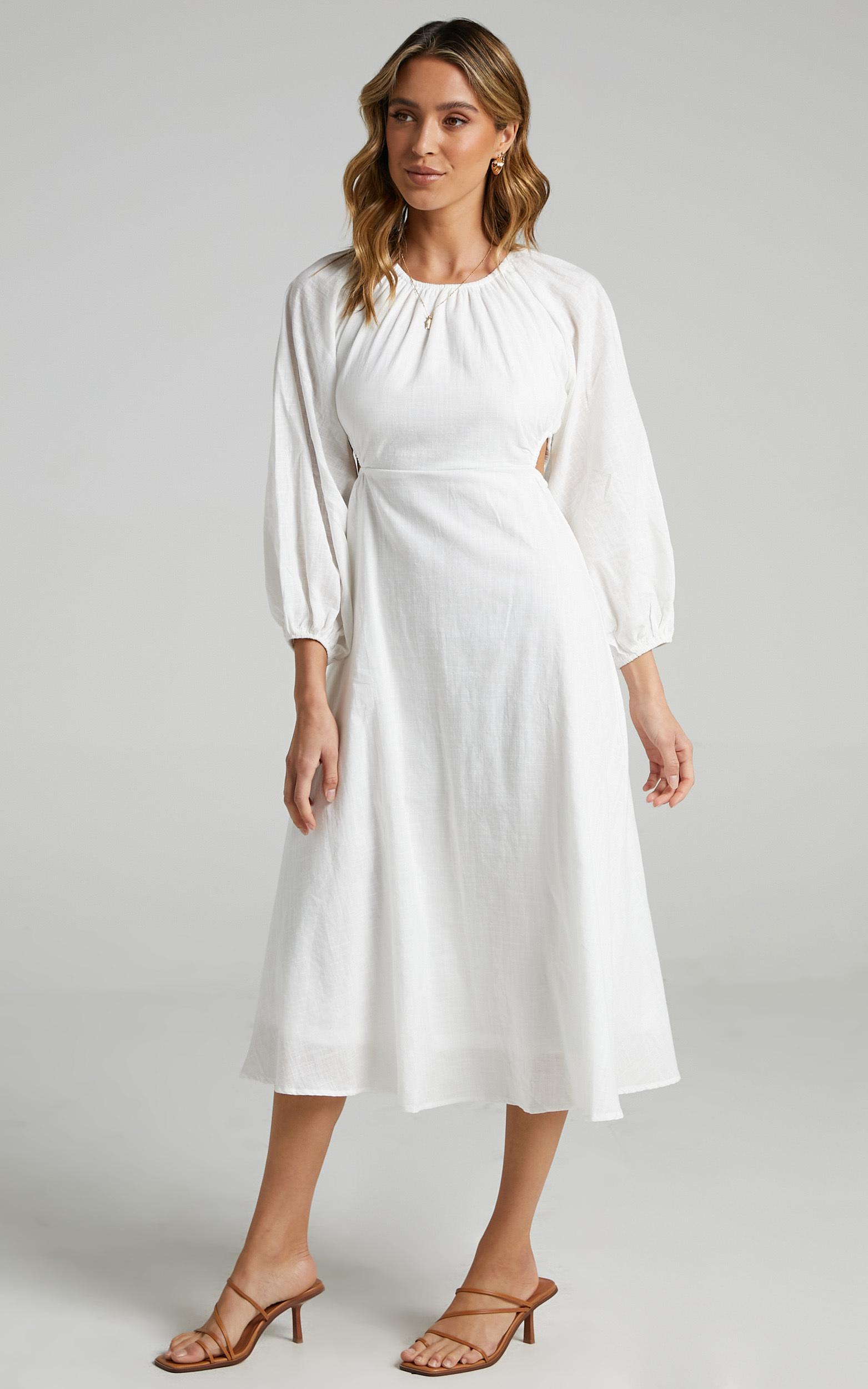 Bennett Dress in White - 06, WHT1, hi-res image number null
