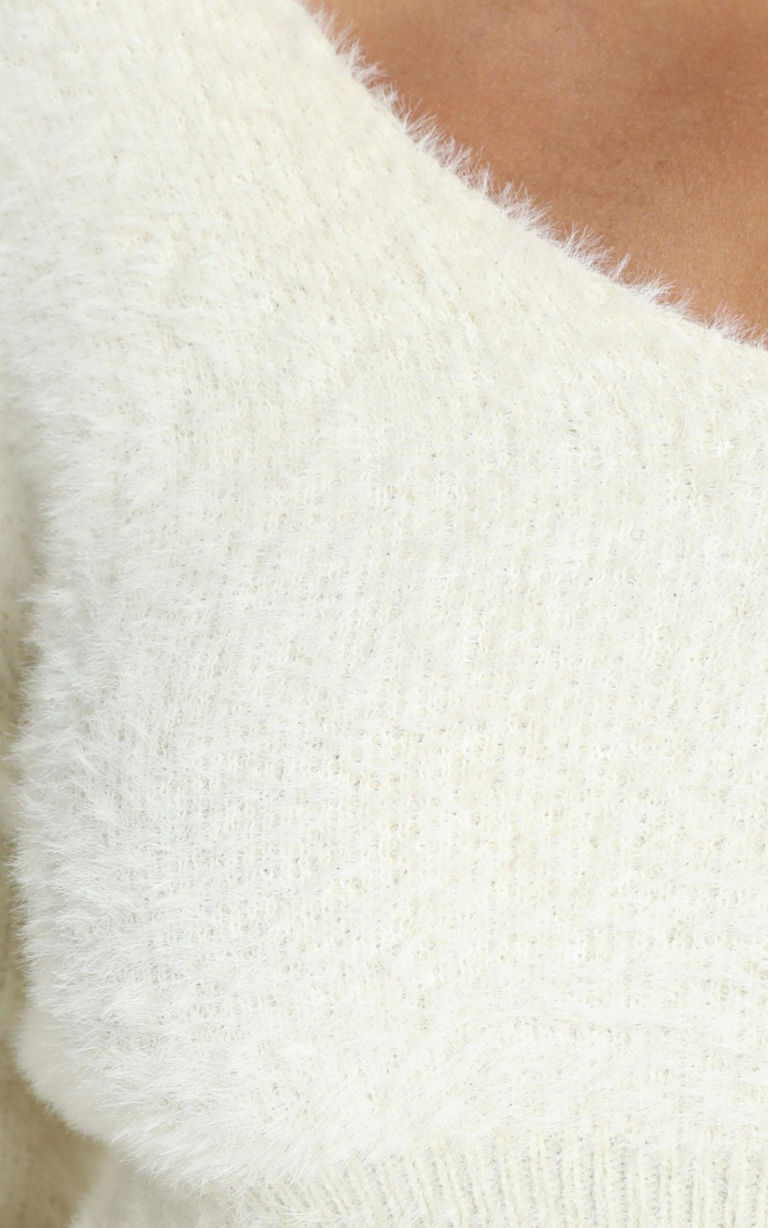 Carey Knit Jumper in Cream - 8 (S), CRE1, hi-res image number null