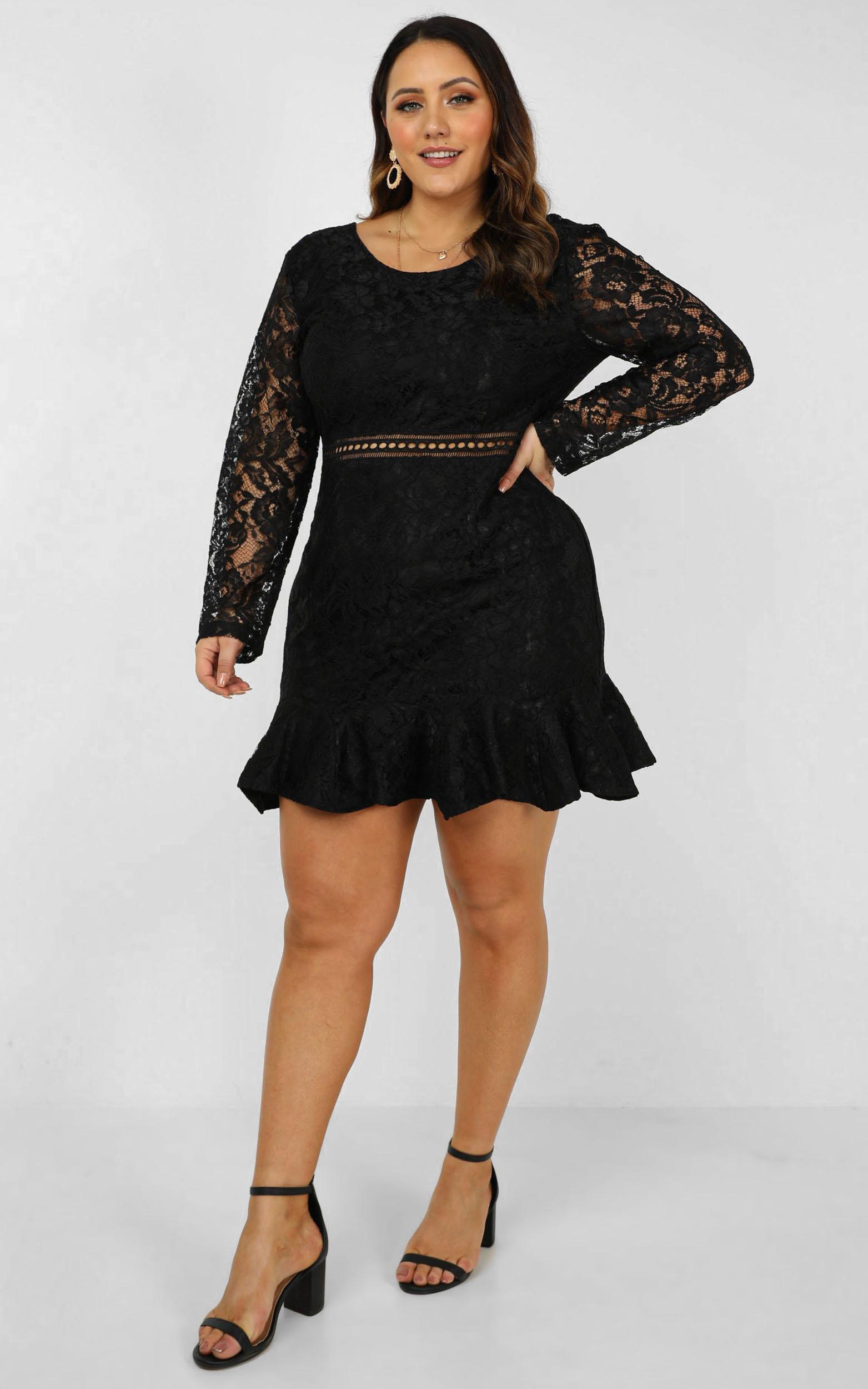 I Belong Dress in black lace - 20 (XXXXL), Black, hi-res image number null