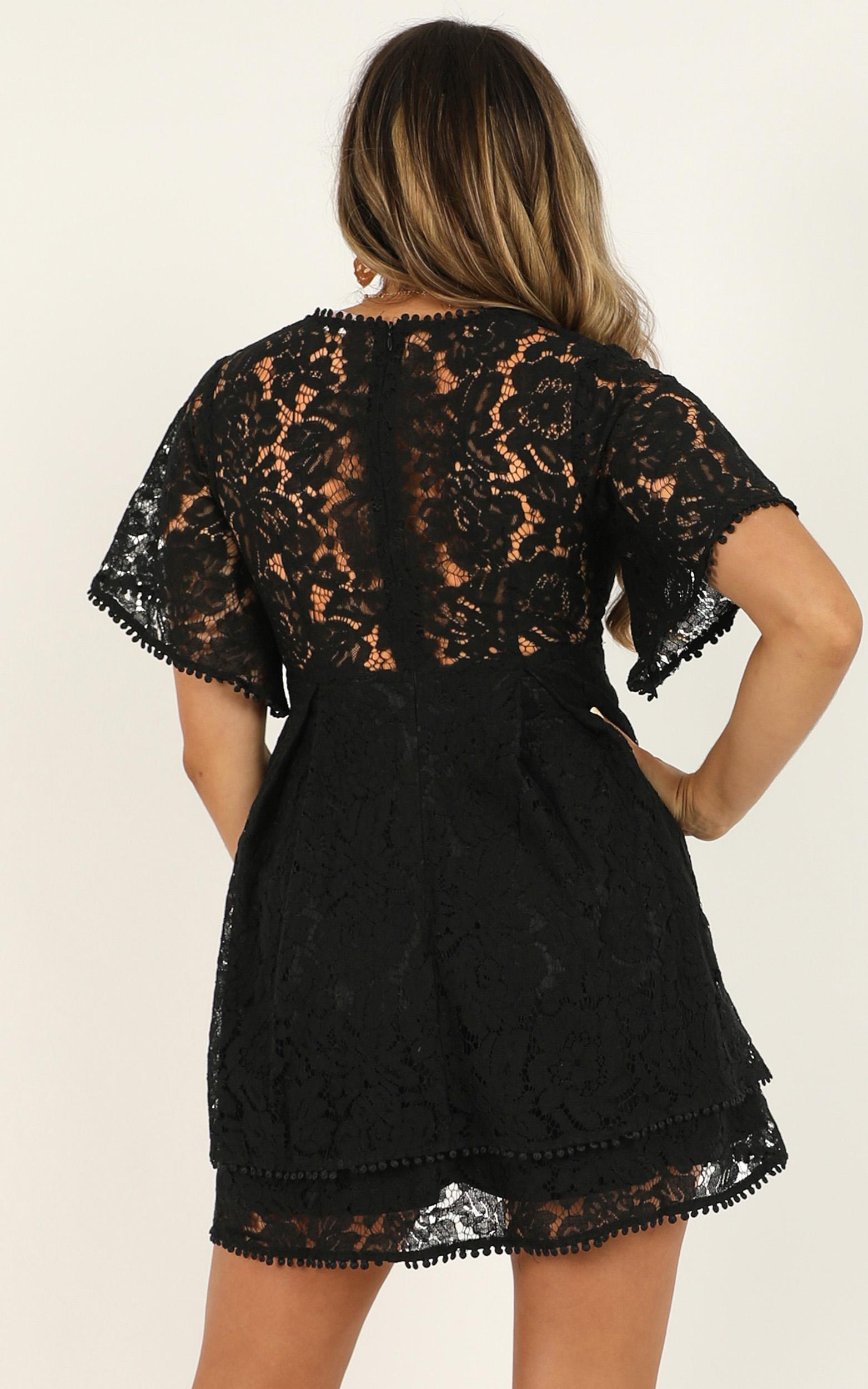 Do You Miss Me Dress in black lace - 20 (XXXXL), Black, hi-res image number null