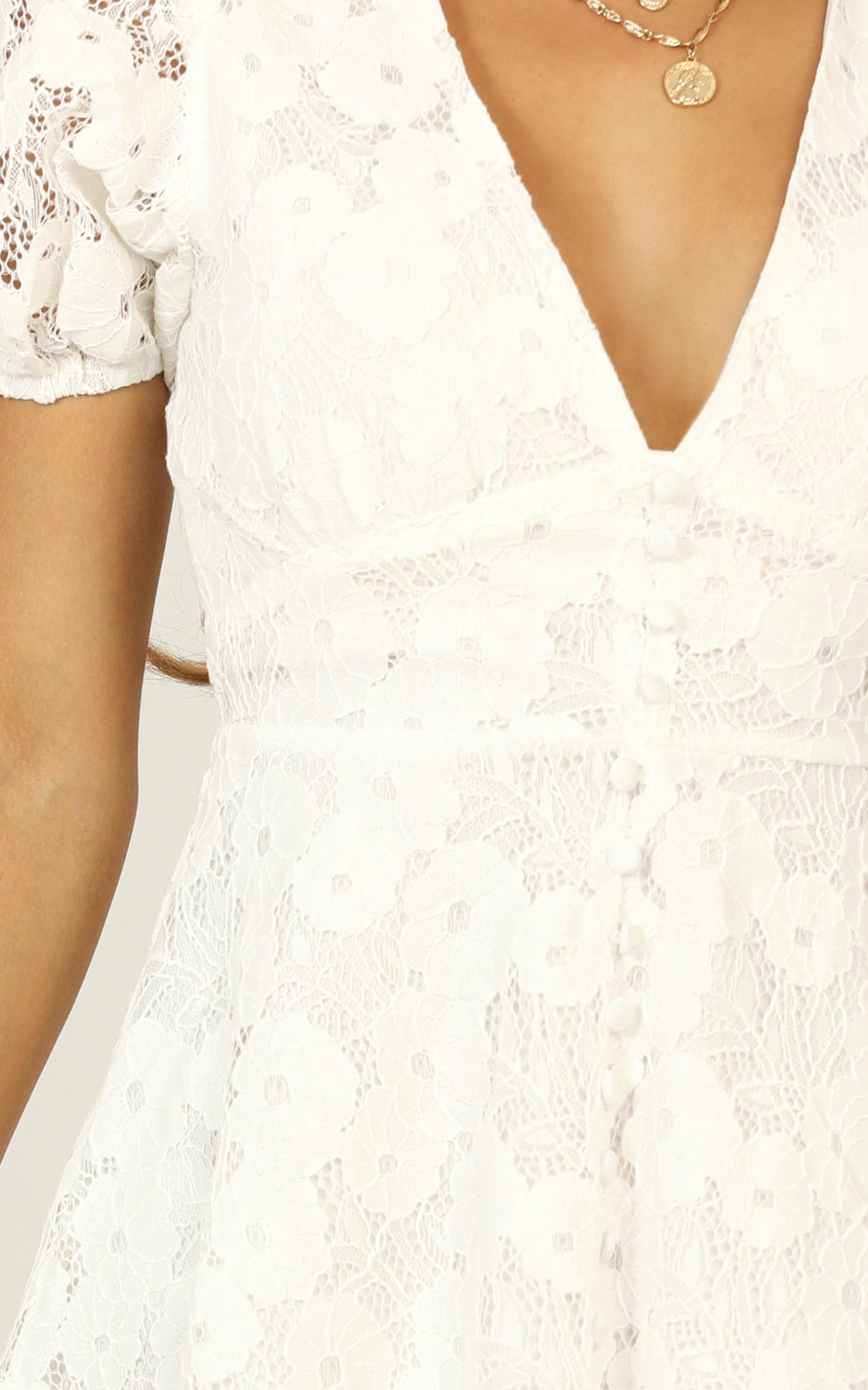 Hey Babe Dress In white lace - 14 (XL), White, hi-res image number null