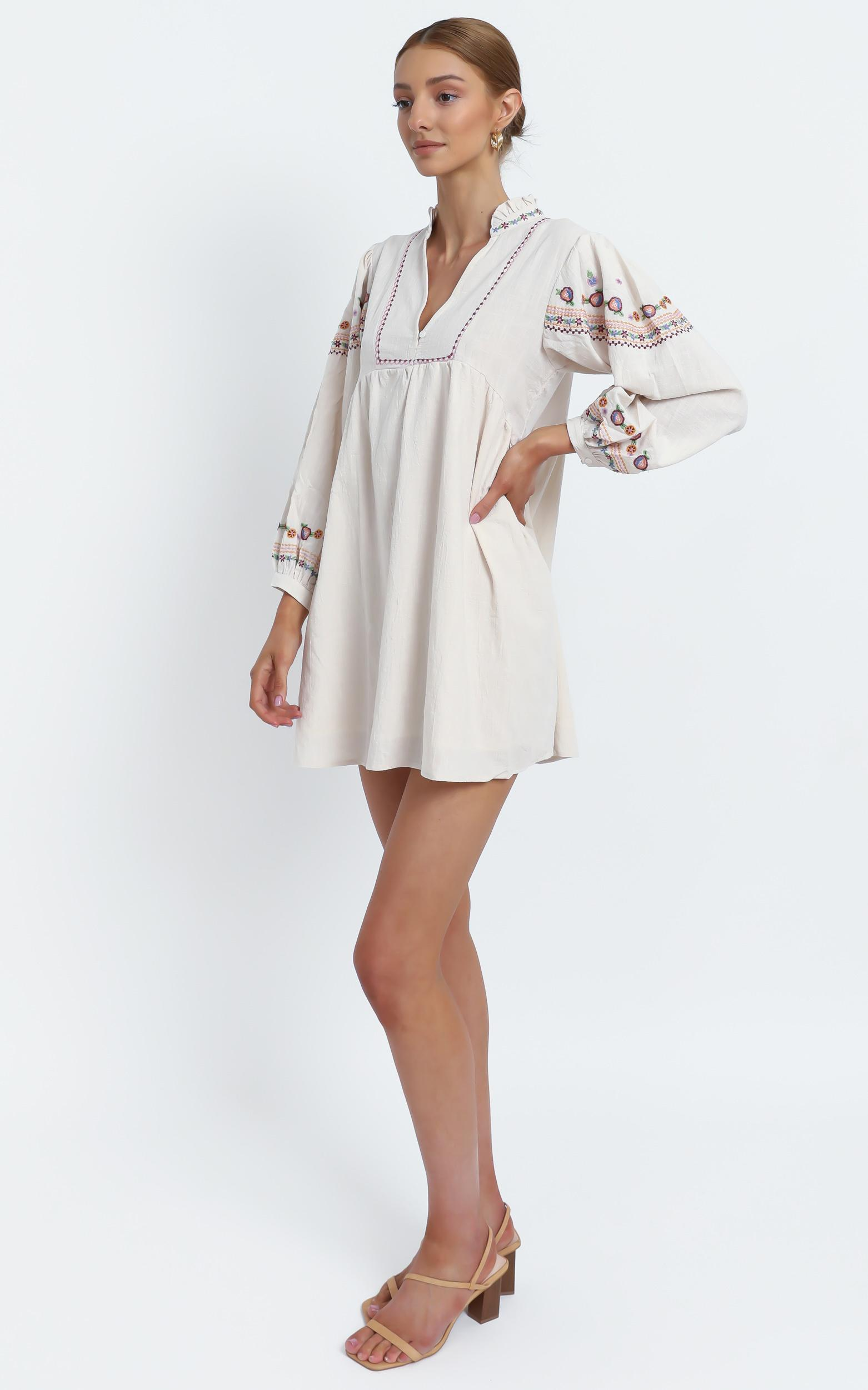 Madden Dress in White - 12 (L), Cream, hi-res image number null