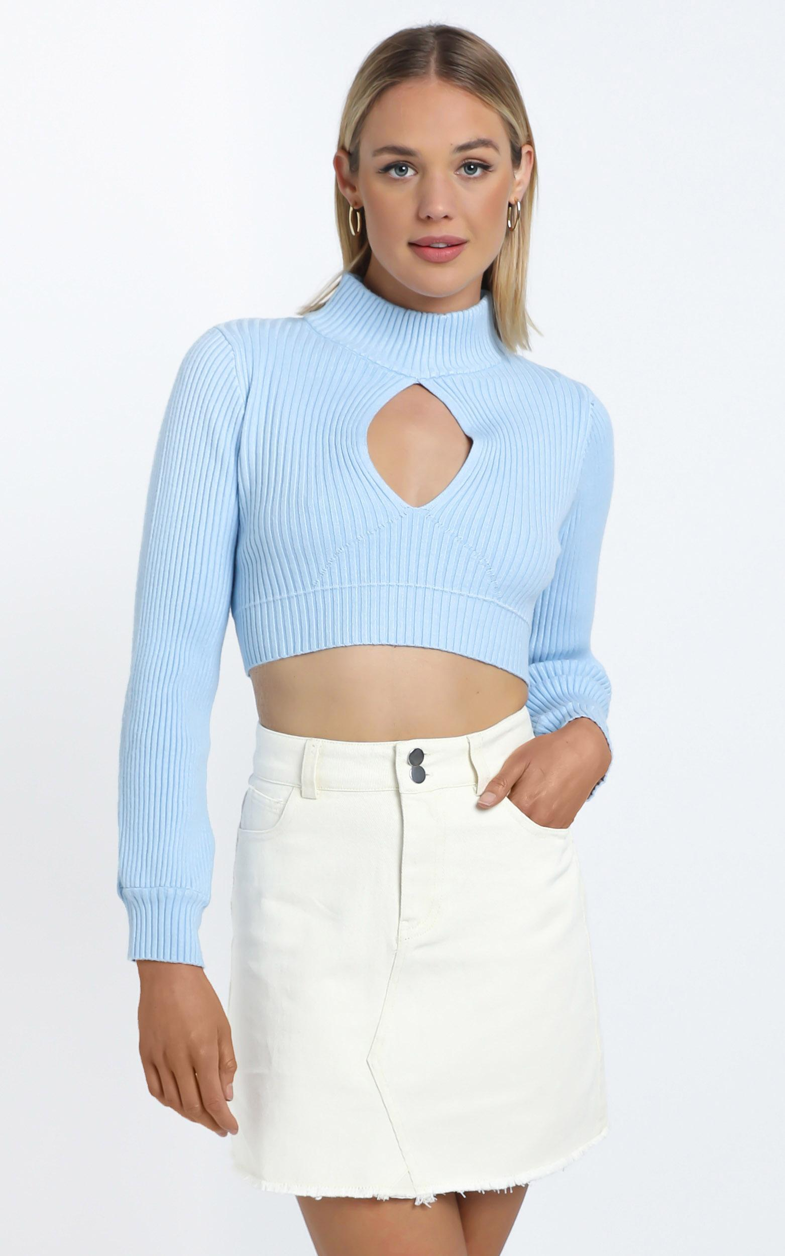Cisco Knit Top in Baby Blue - 12 (L), BLU1, hi-res image number null
