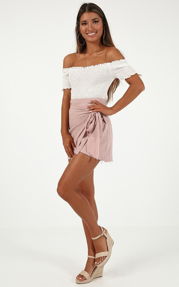 Not Happening Skirt In blush linen look - 8 (S), Blush, hi-res image number null