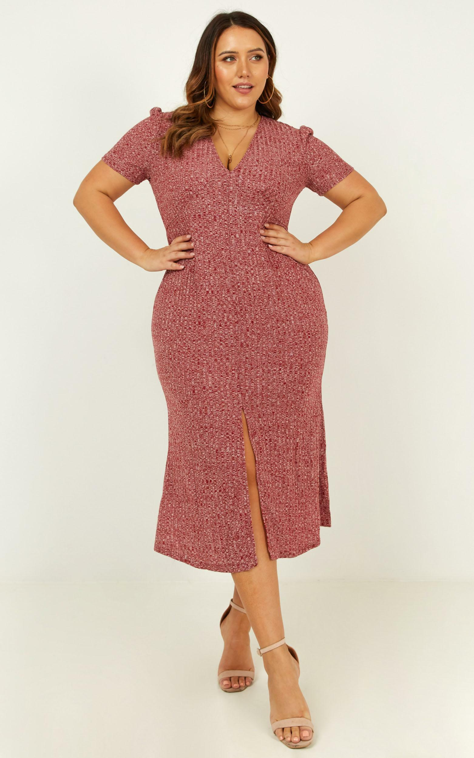 Warming Up Dress in wine marle - 20 (XXXXL), Wine, hi-res image number null