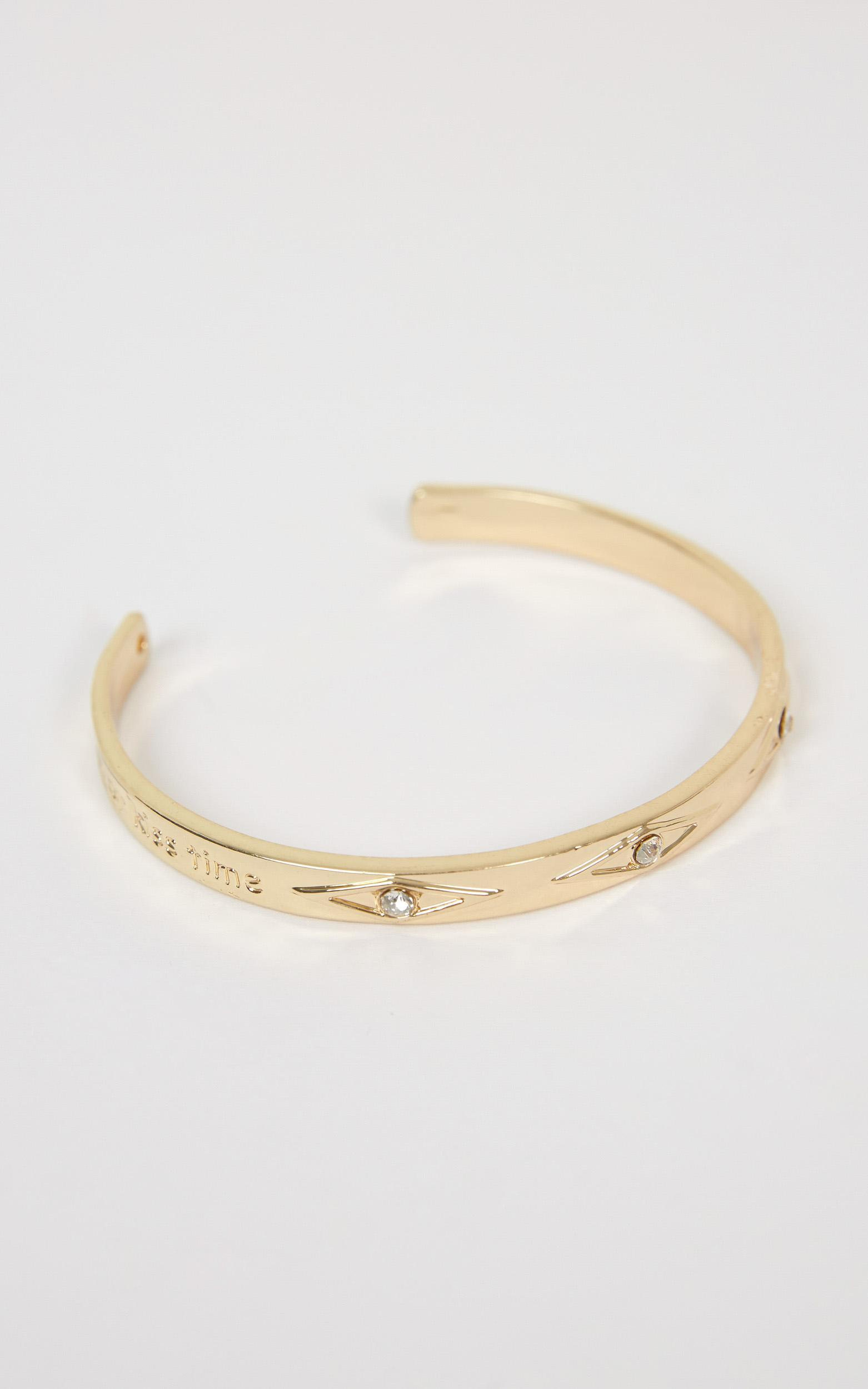 Queen Of The Castle Bangle In Gold, , hi-res image number null