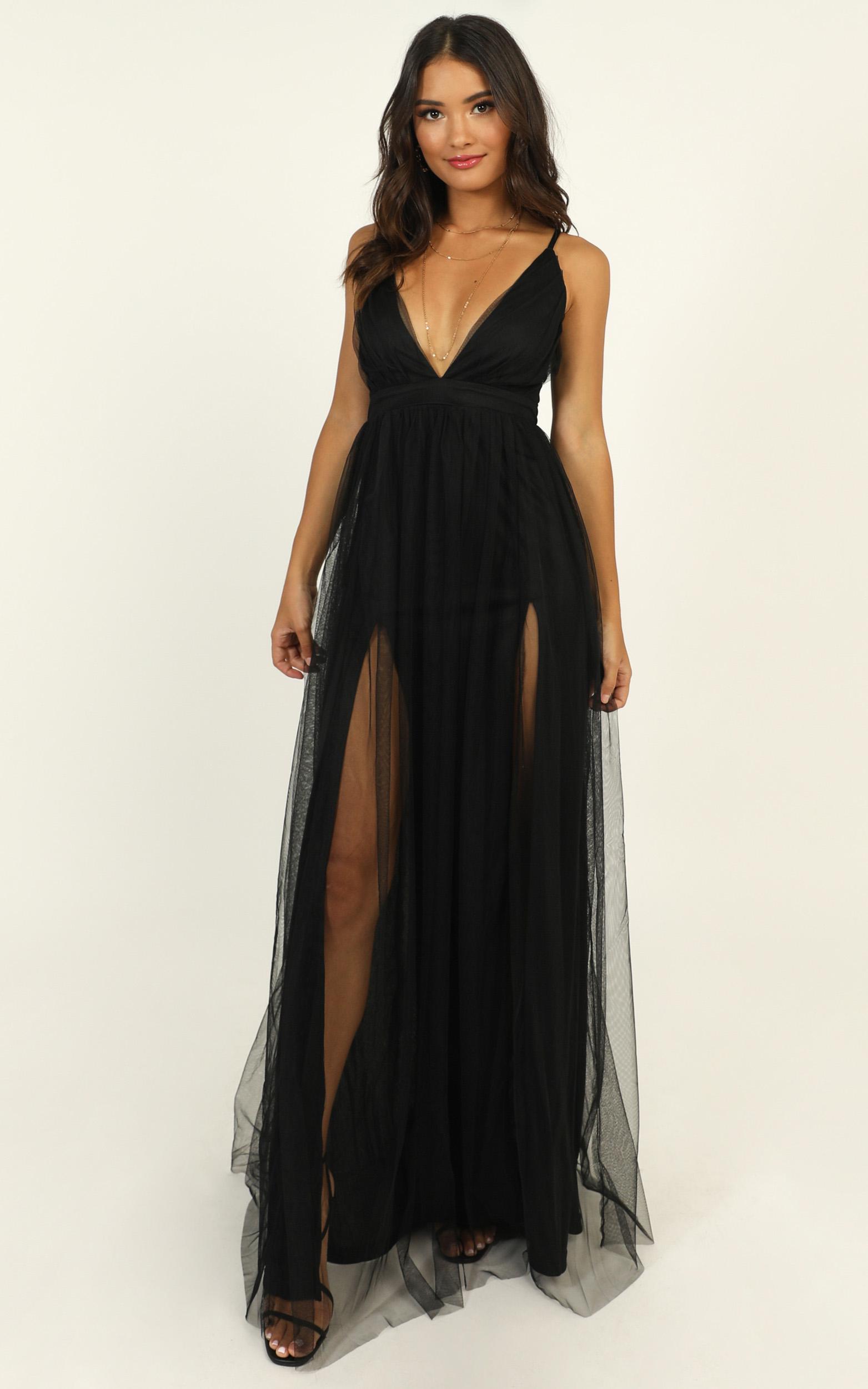 Like A Vision Dress in black mesh - 14 (XL), Black, hi-res image number null