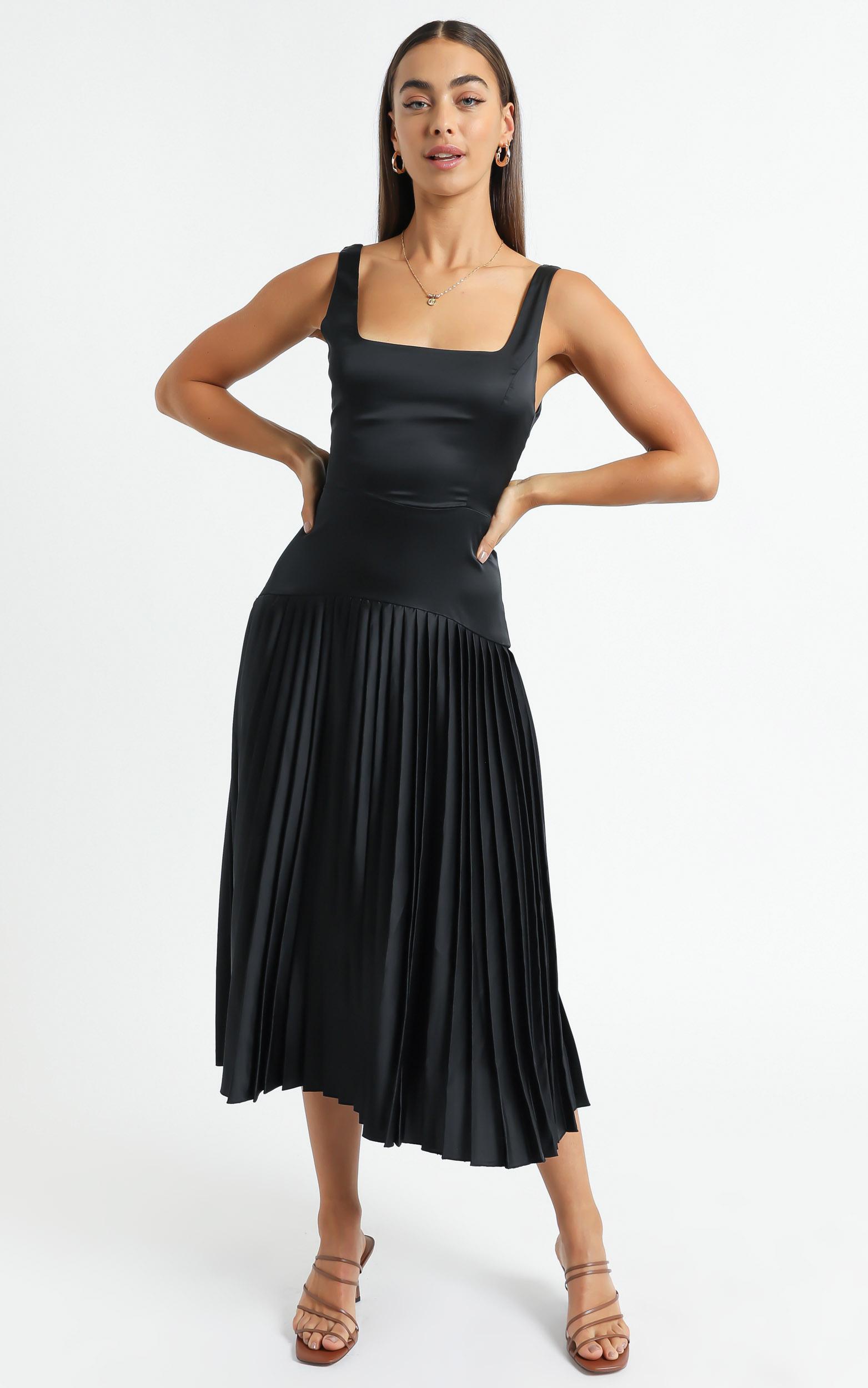 Sassa Dress in Black - 6 (XS), Black, hi-res image number null