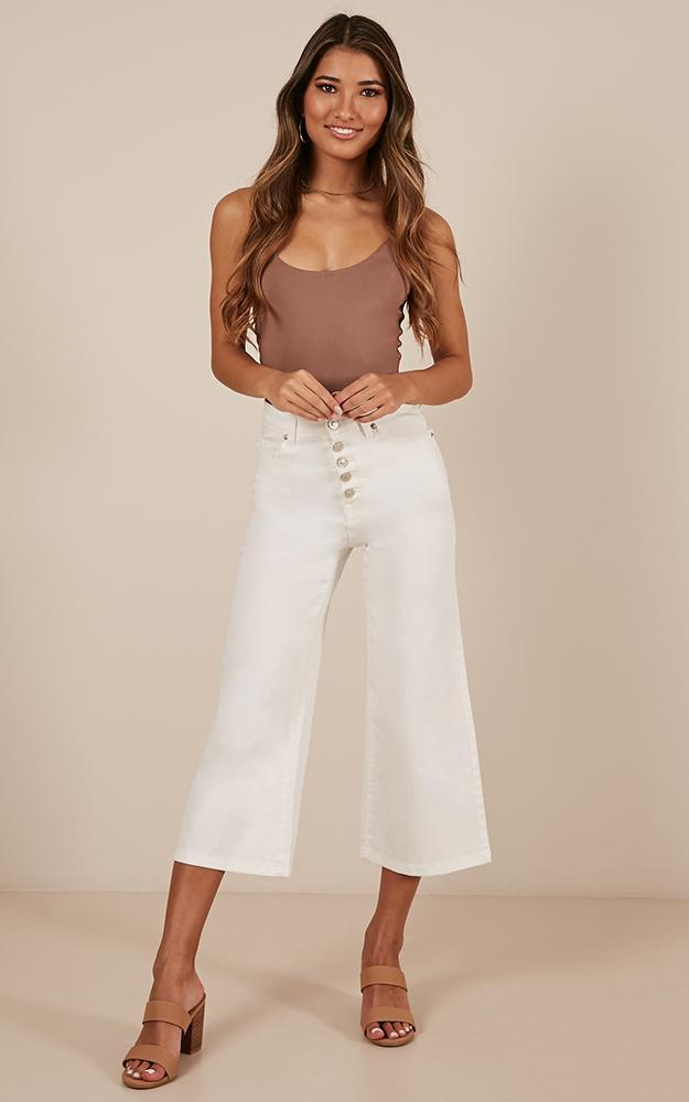 Undercover Allies Jeans in white denim - 20 (XXXXL), White, hi-res image number null