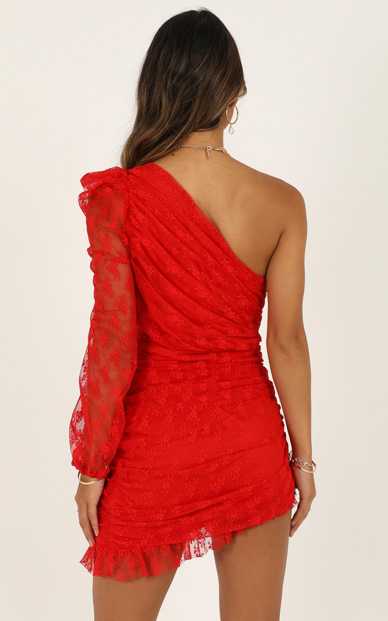 Its A Game dress in red lace - 16 (XXL), Red, hi-res image number null