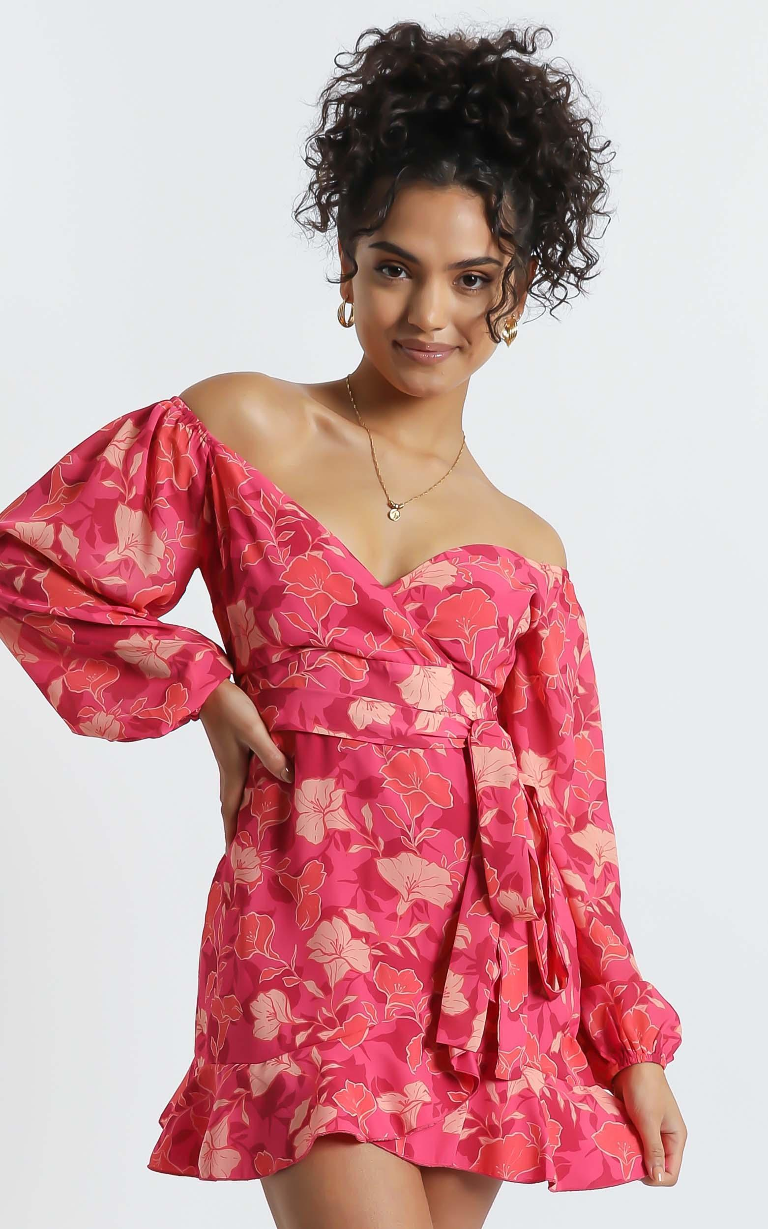 Your Sugar and Spice Dress in Berry Floral - 6 (XS), PNK13, hi-res image number null