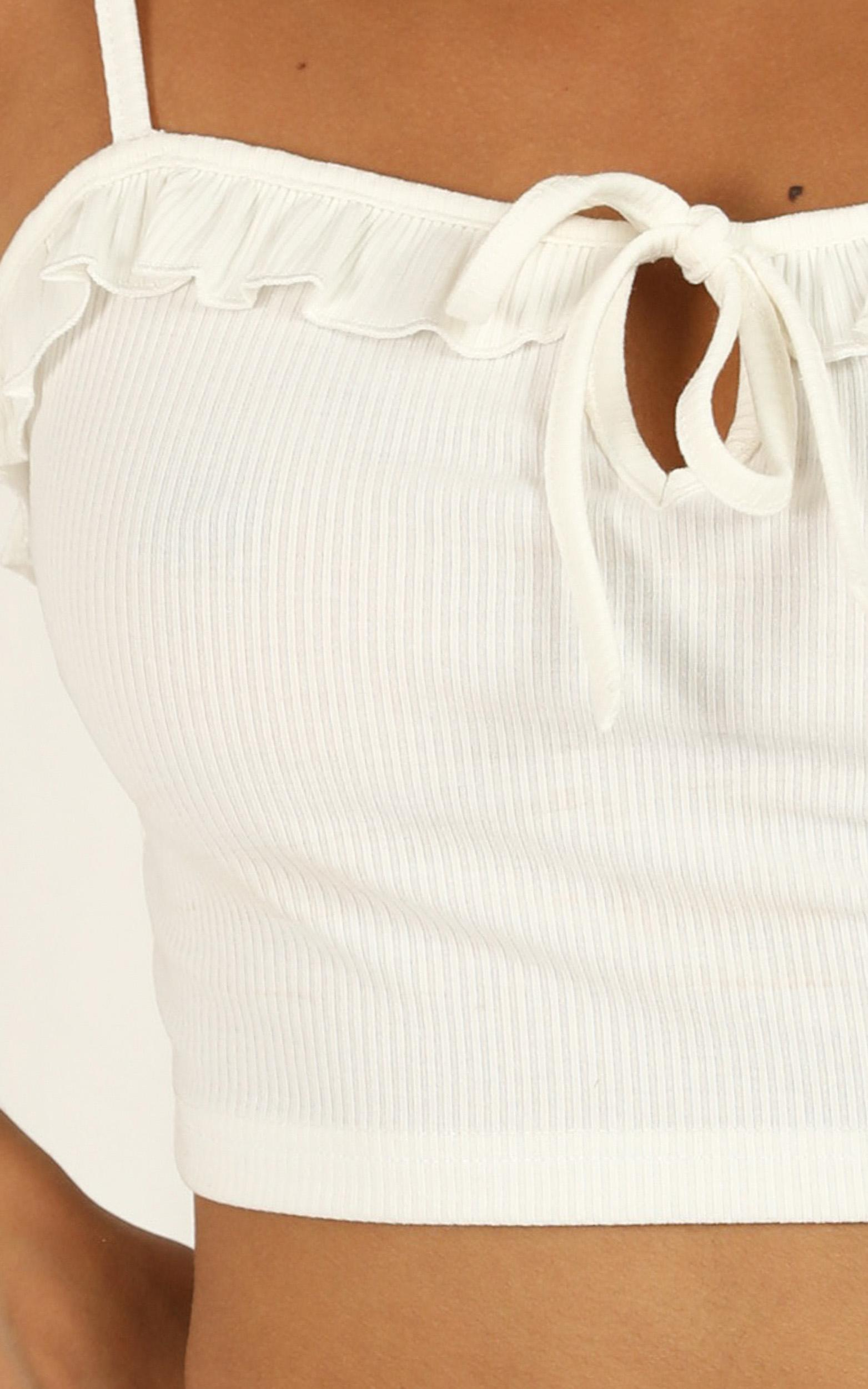 Cheeky Talk Top in white - 20 (XXXXL), White, hi-res image number null