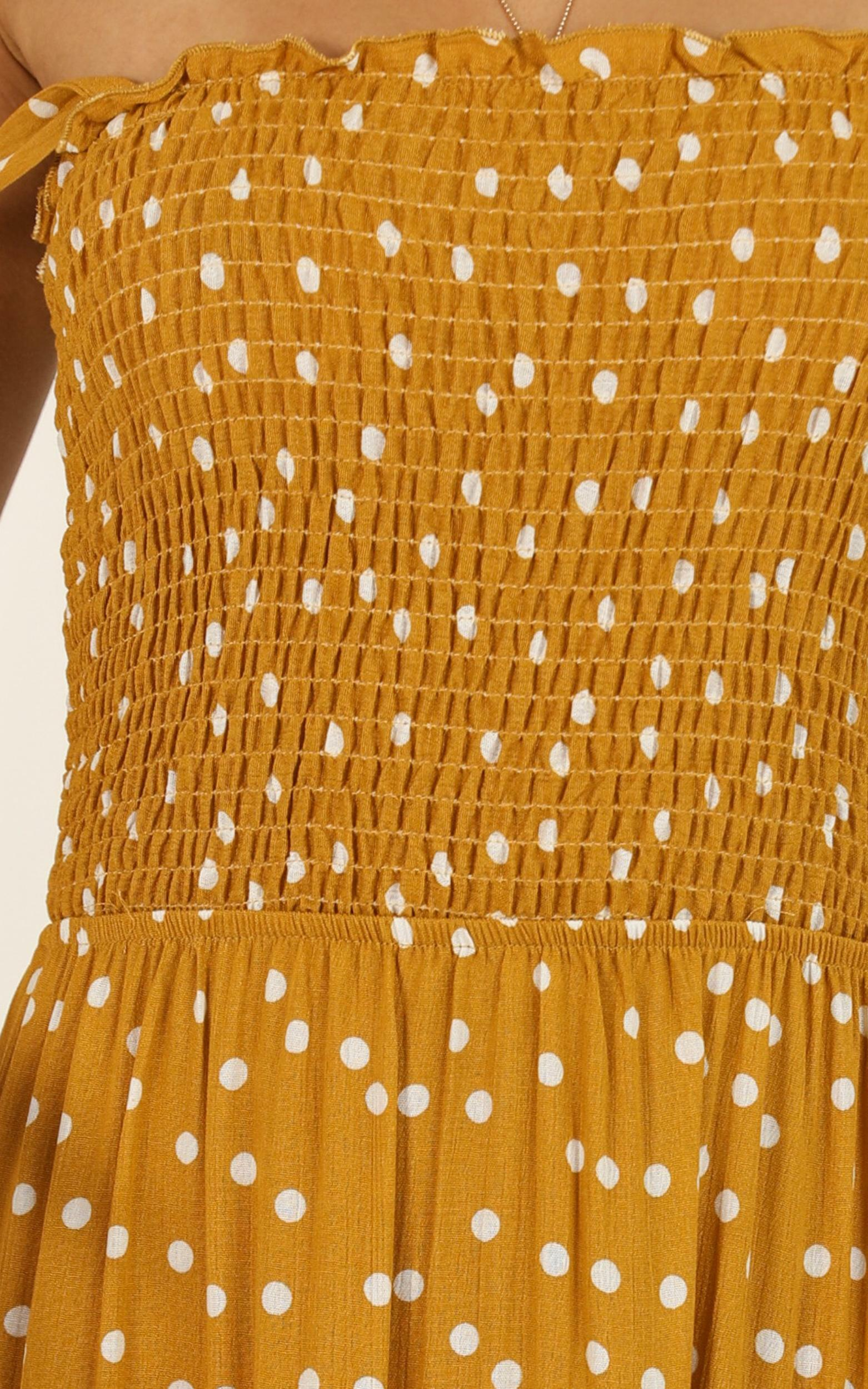 Giselle dress in mustard spot - 14 (XL), Mustard, hi-res image number null