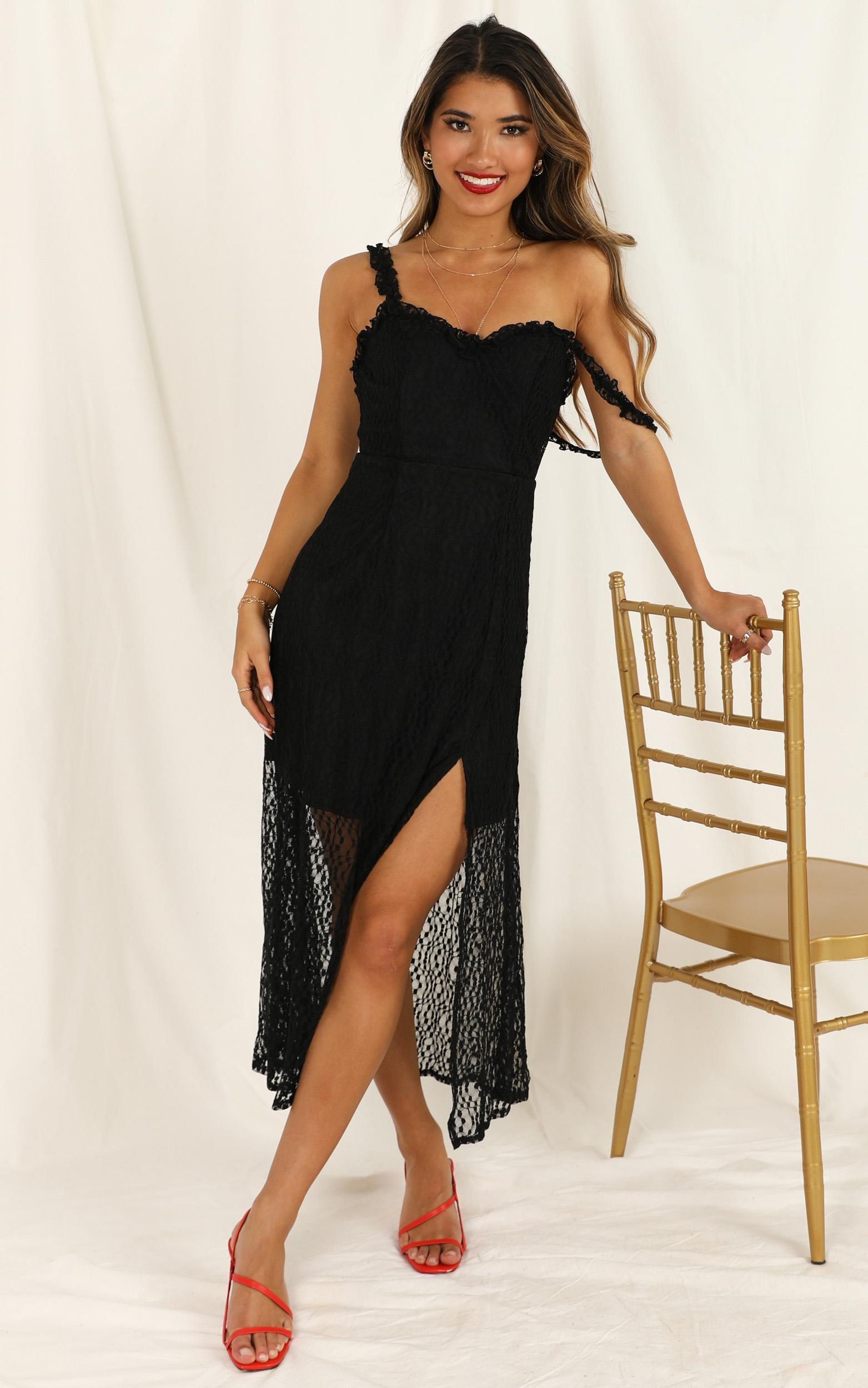 Look At Us dress in black lace - 12 (L), Black, hi-res image number null