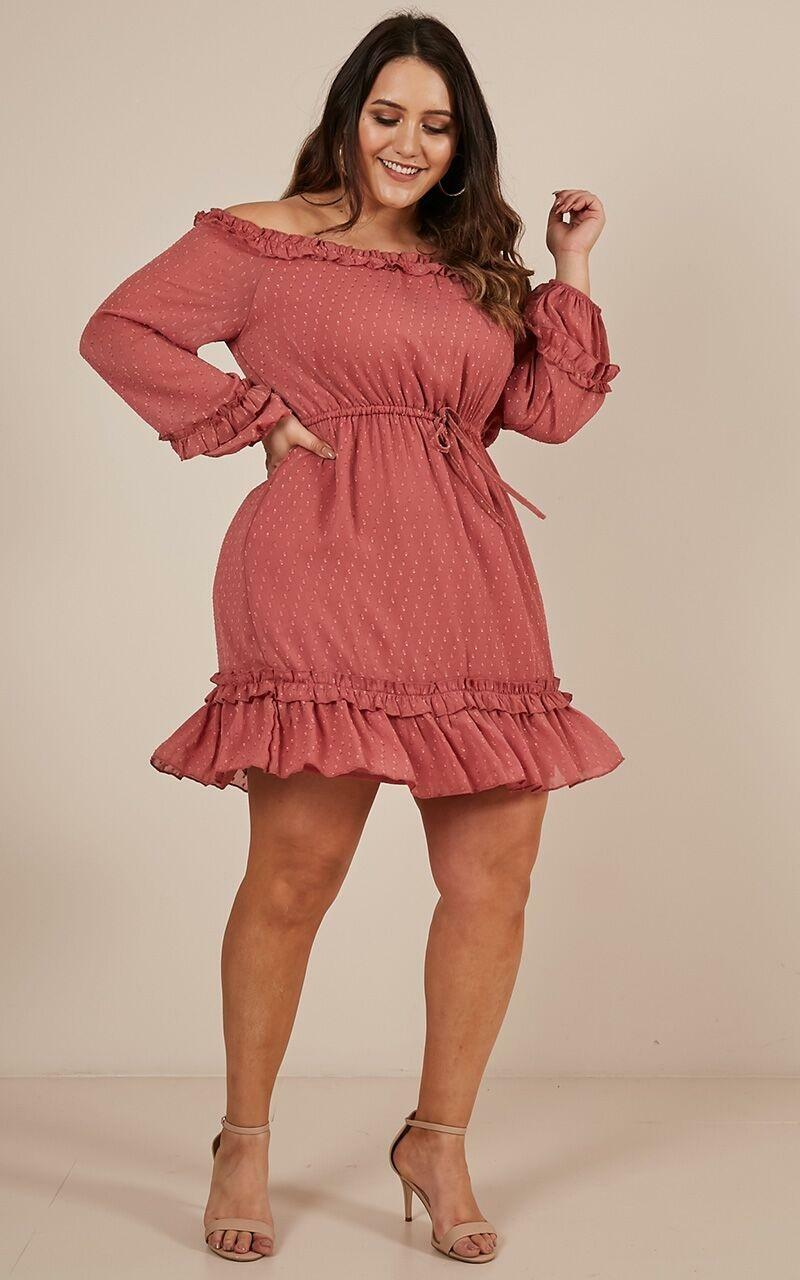 Grab your Attention Dress in rose - 20 (XXXXL), Pink, hi-res image number null