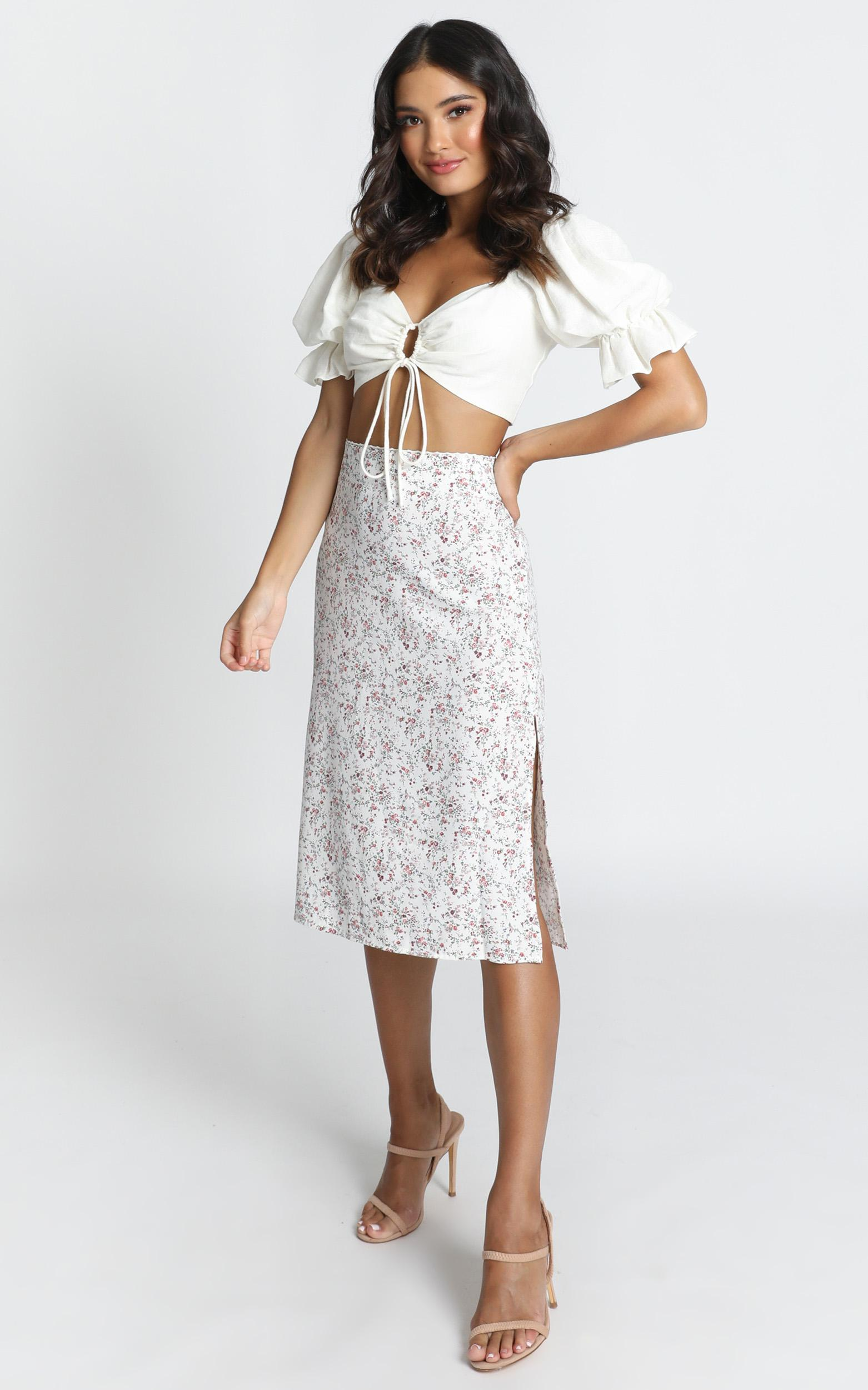 All Over Now Skirt in white - 12 (L), White, hi-res image number null