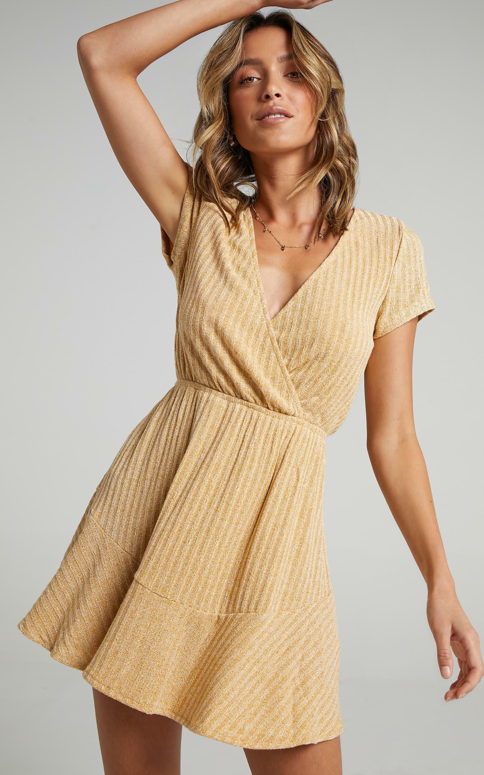 Sweet Feeling Dress in mustard - 20 (XXXXL), Mustard, hi-res image number null