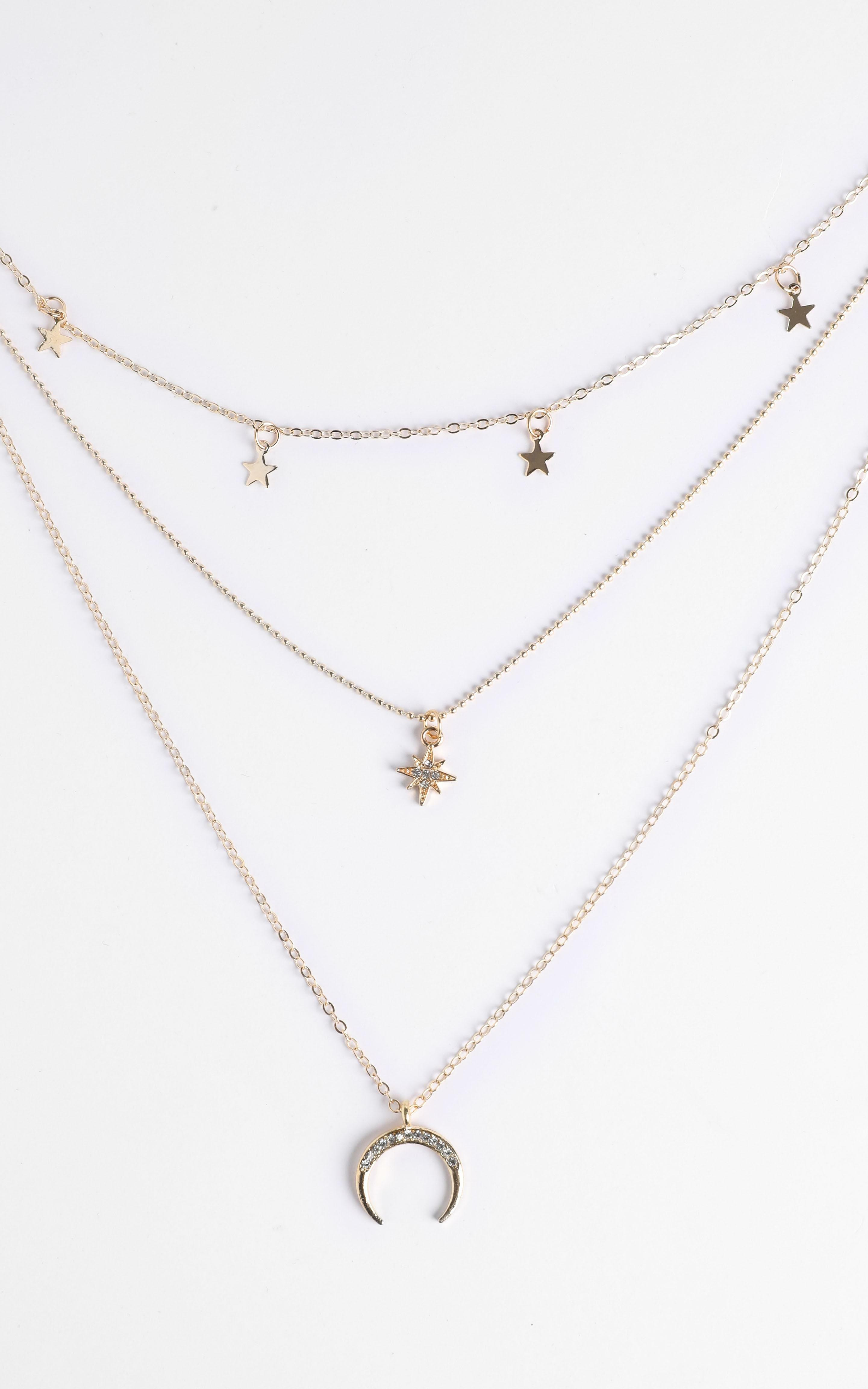 Alissa Star Layered Necklace in Gold, GLD1, hi-res image number null