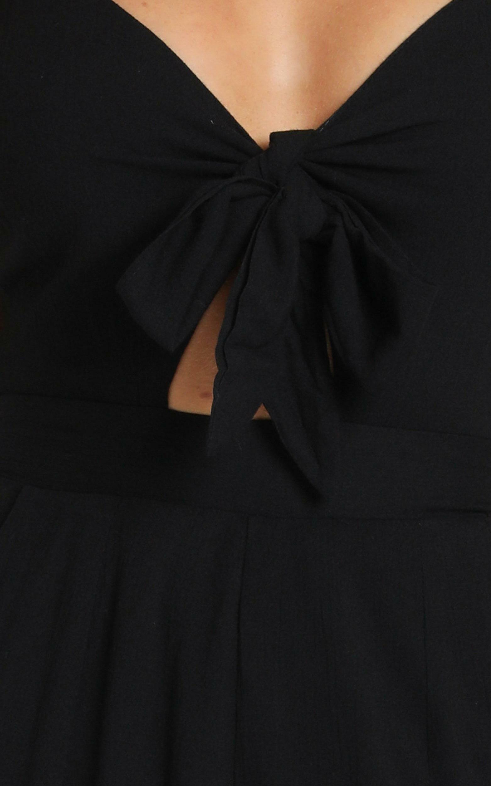 Renewed Jumpsuit in black linen look - 4 (XXS), Black, hi-res image number null