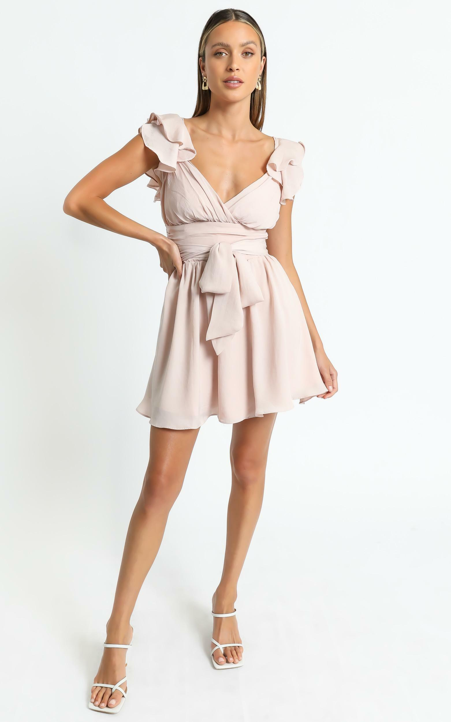 Alene Dress in Nude - 6 (XS), Beige, hi-res image number null