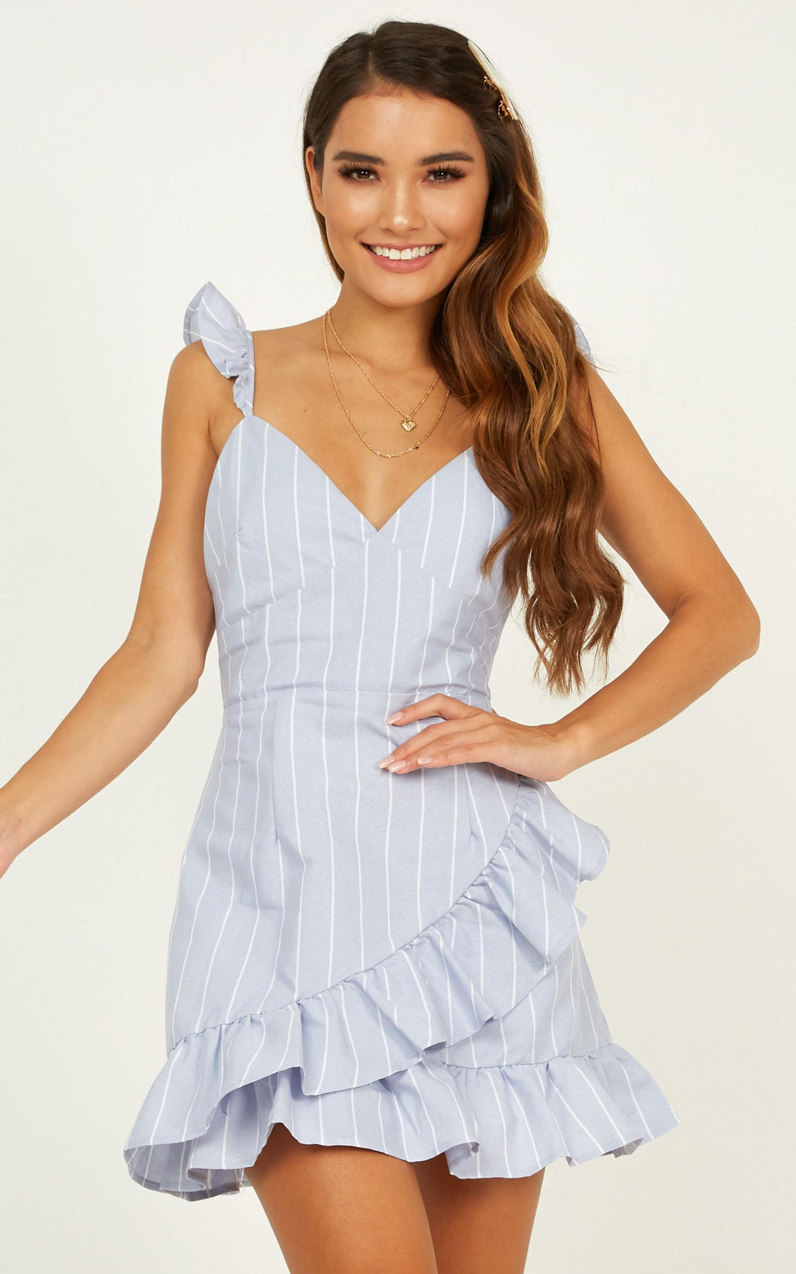 Catching Sails Dress in blue stripe - 20 (XXXXL), Blue, hi-res image number null