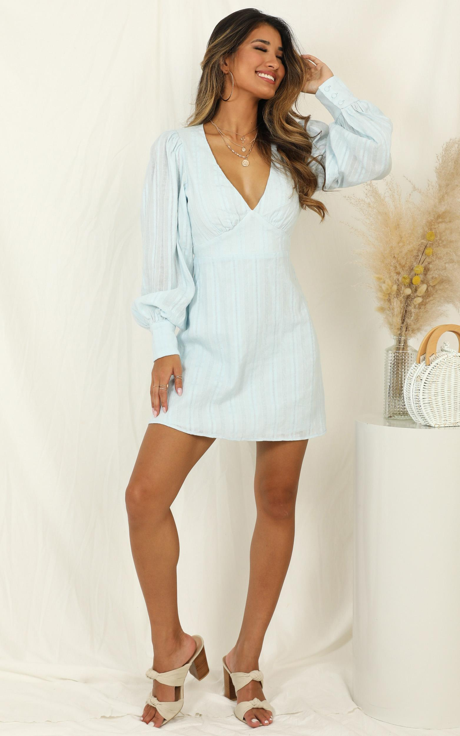 Reckless Decisions Dress in blue - 14 (XL), Blue, hi-res image number null