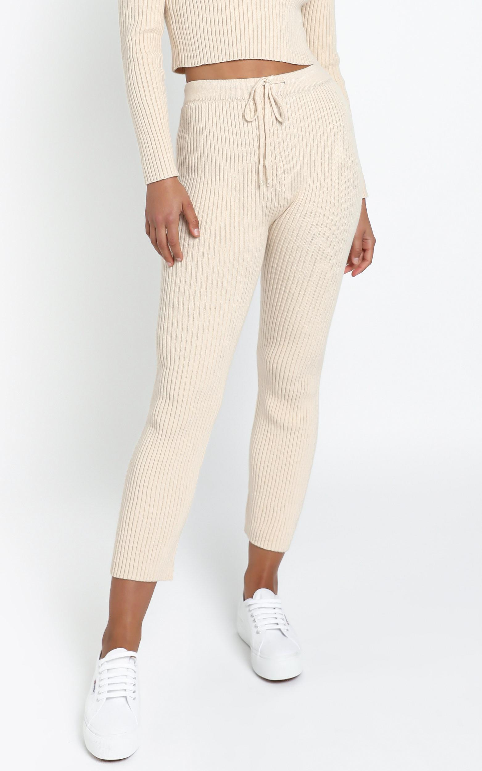 Gweneth Knit Pants in Beige - 12 (L), CRE1, hi-res image number null