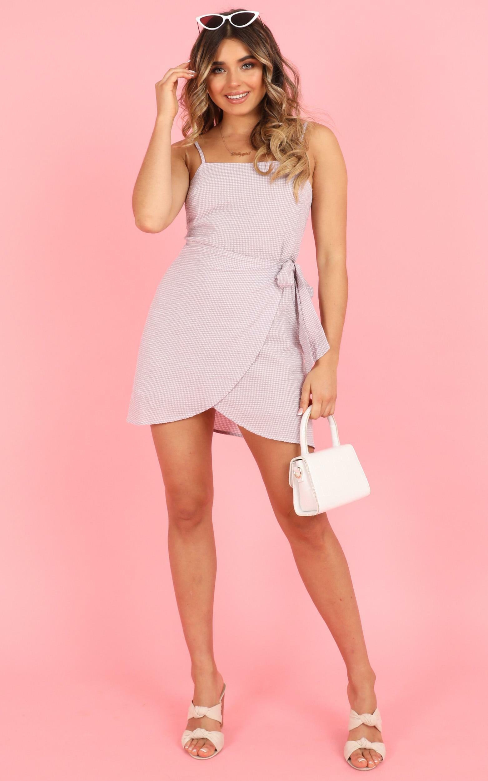 No Coincidence dress in lilac check - 20 (XXXXL), Purple, hi-res image number null