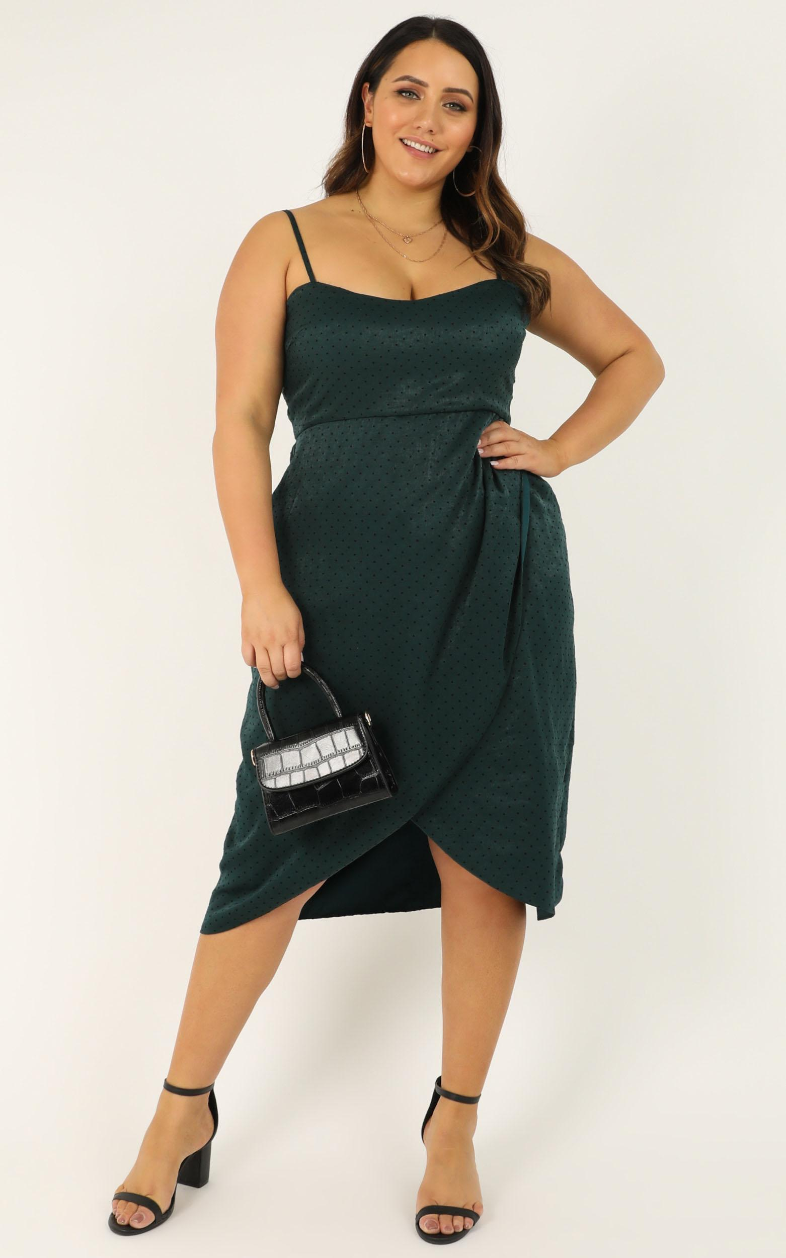 American Love dress in teal spot - 20 (XXXXL), Green, hi-res image number null