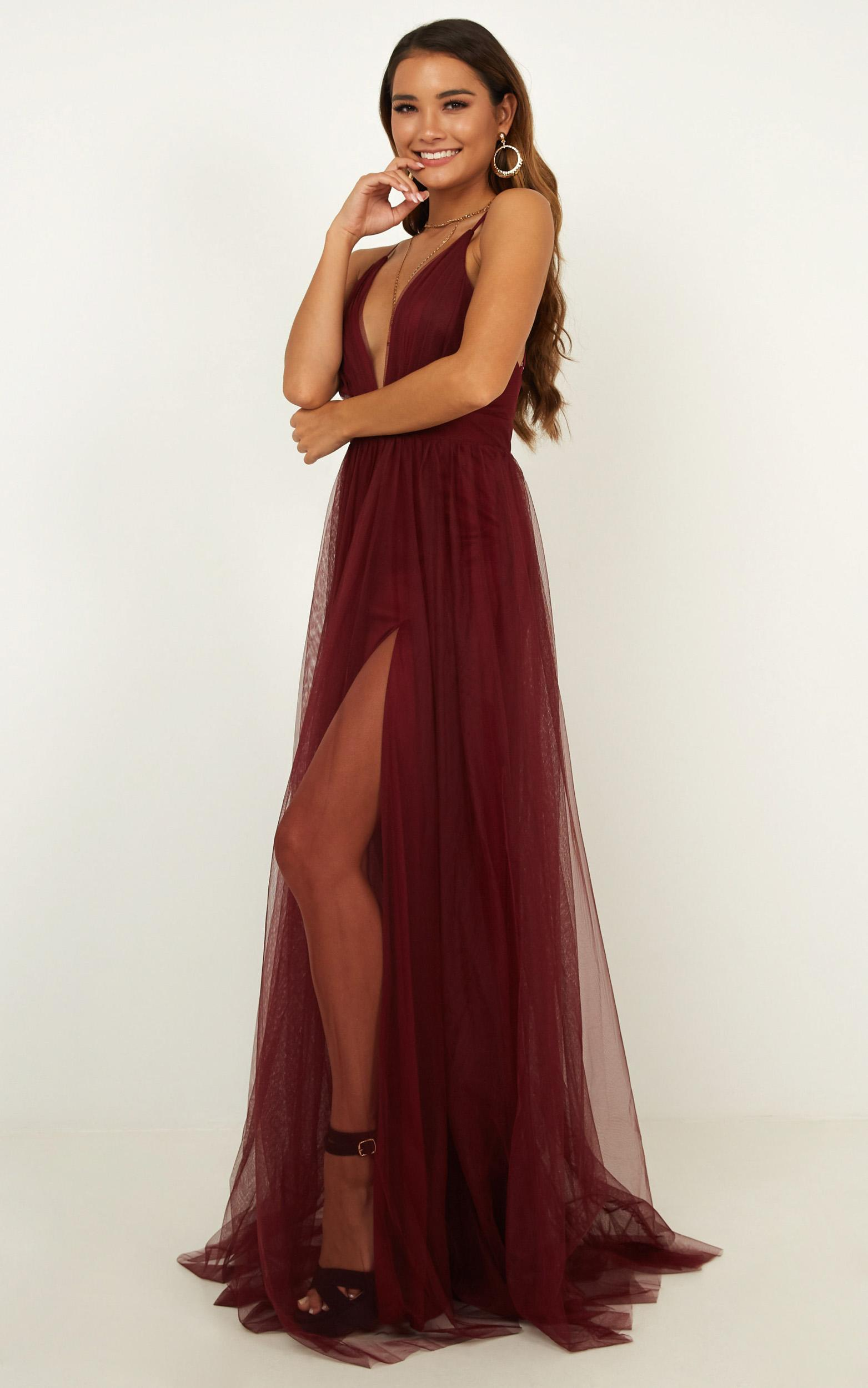 Celebrate Tonight Maxi Dress In Wine - 14 (XL), Navy, hi-res image number null
