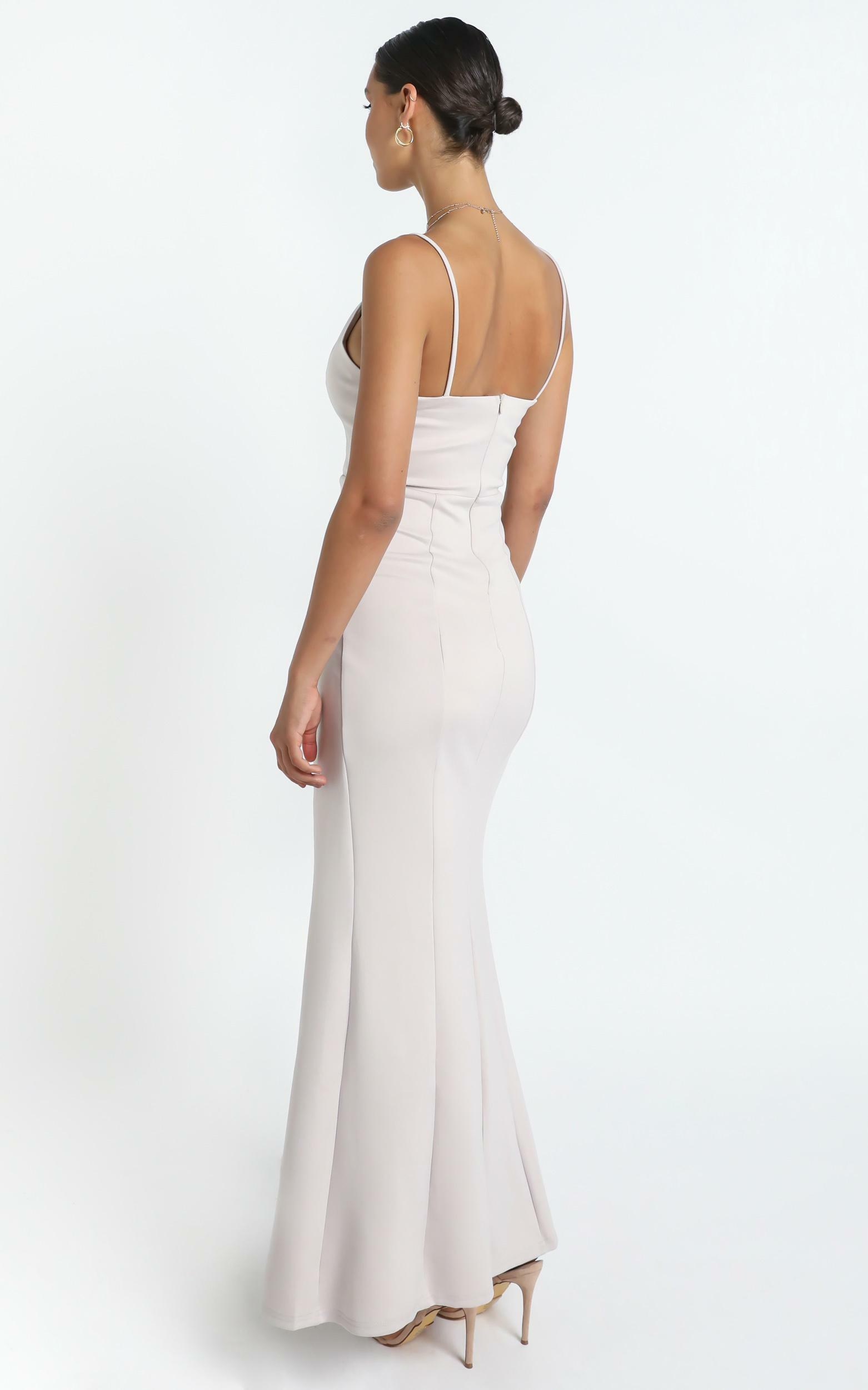 Dare To Dream Maxi Dress in Stone - 20 (XXXXL), Grey, hi-res image number null