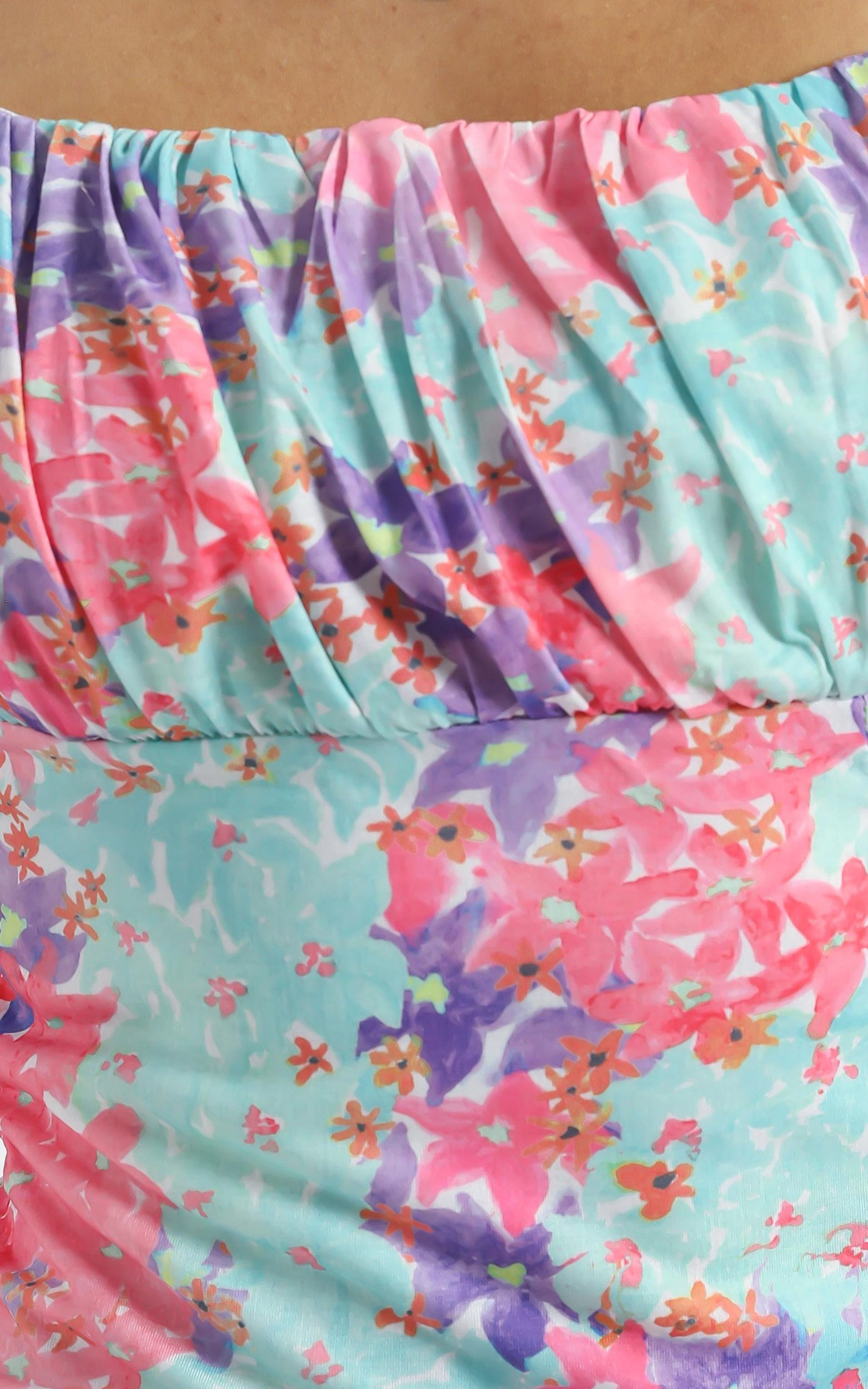 Elka Dress in Electric Blooms - 6 (XS), Multi, hi-res image number null