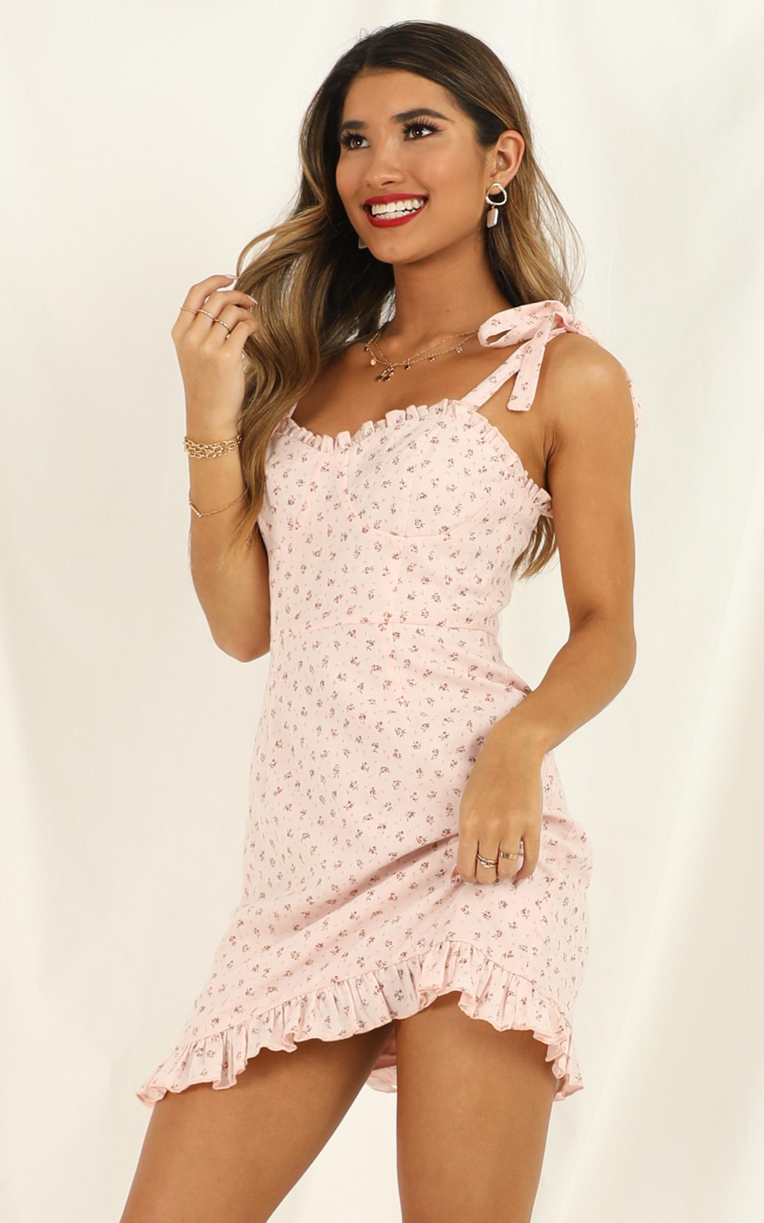 Easy On The Eyes Dress in blush floral - 20 (XXXXL), Blush, hi-res image number null