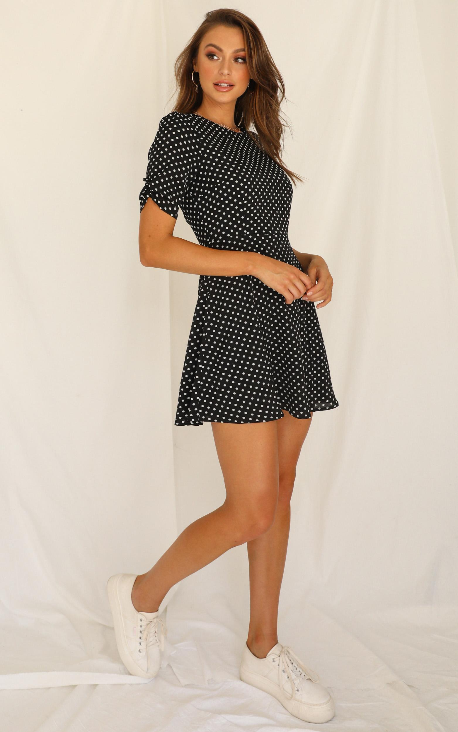 Down To My Core Dress In black spot - 20 (XXXXL), Black, hi-res image number null